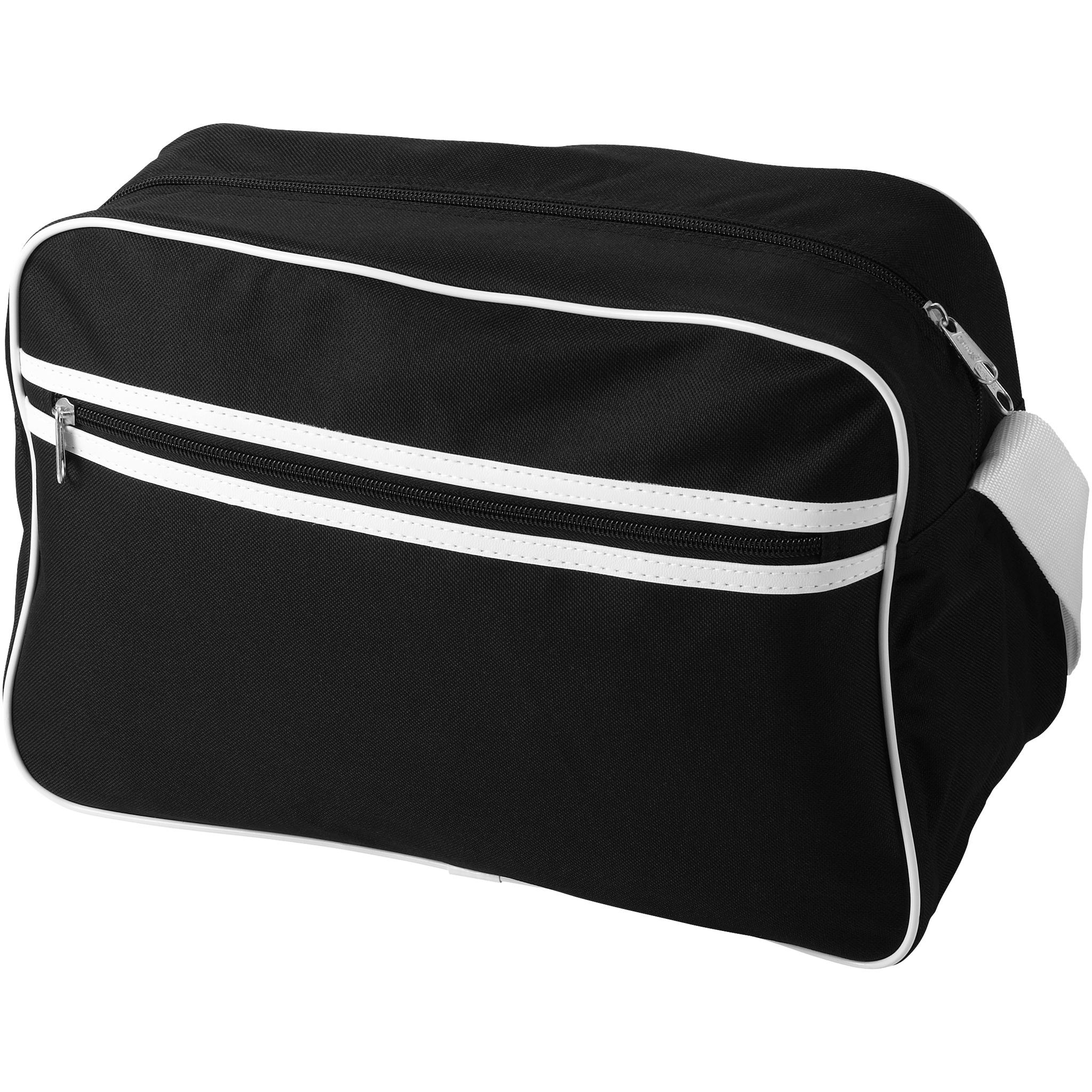 Bullet Sacramento Shoulder Bag (38 x 16 x 26cm) (Solid Black)
