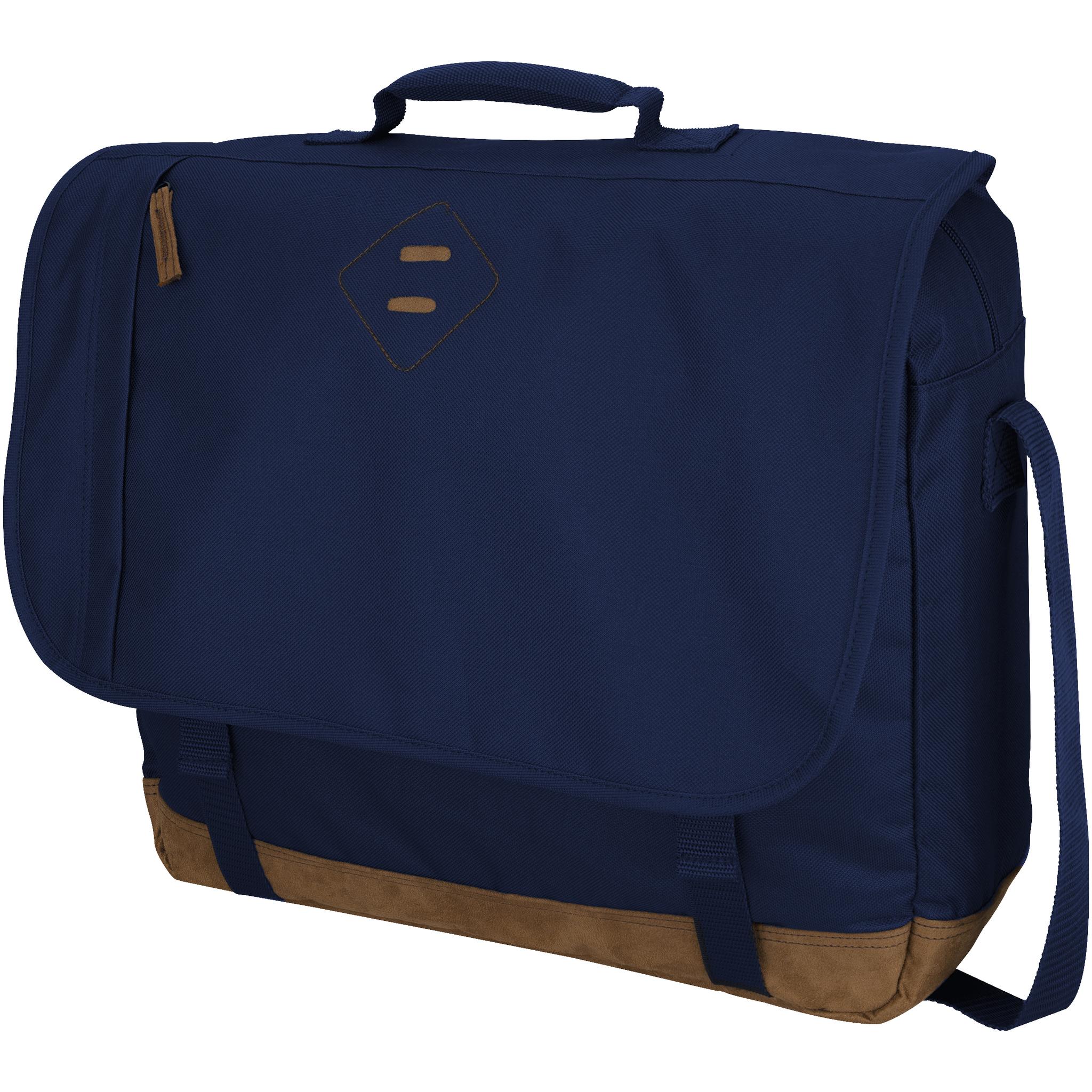 Slazenger Chester 17in Laptop Shoulder Bag (41 x 12 x 33cm) (Navy)