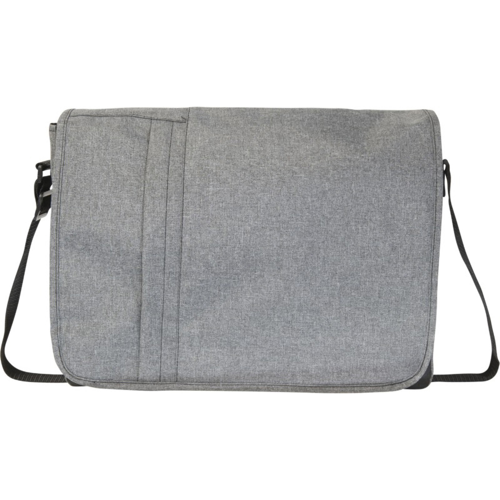 Bullet Heathered 15.6in Computer Messenger Bag (10 x 39.5 x 30.5 cm) (Heather Grey)