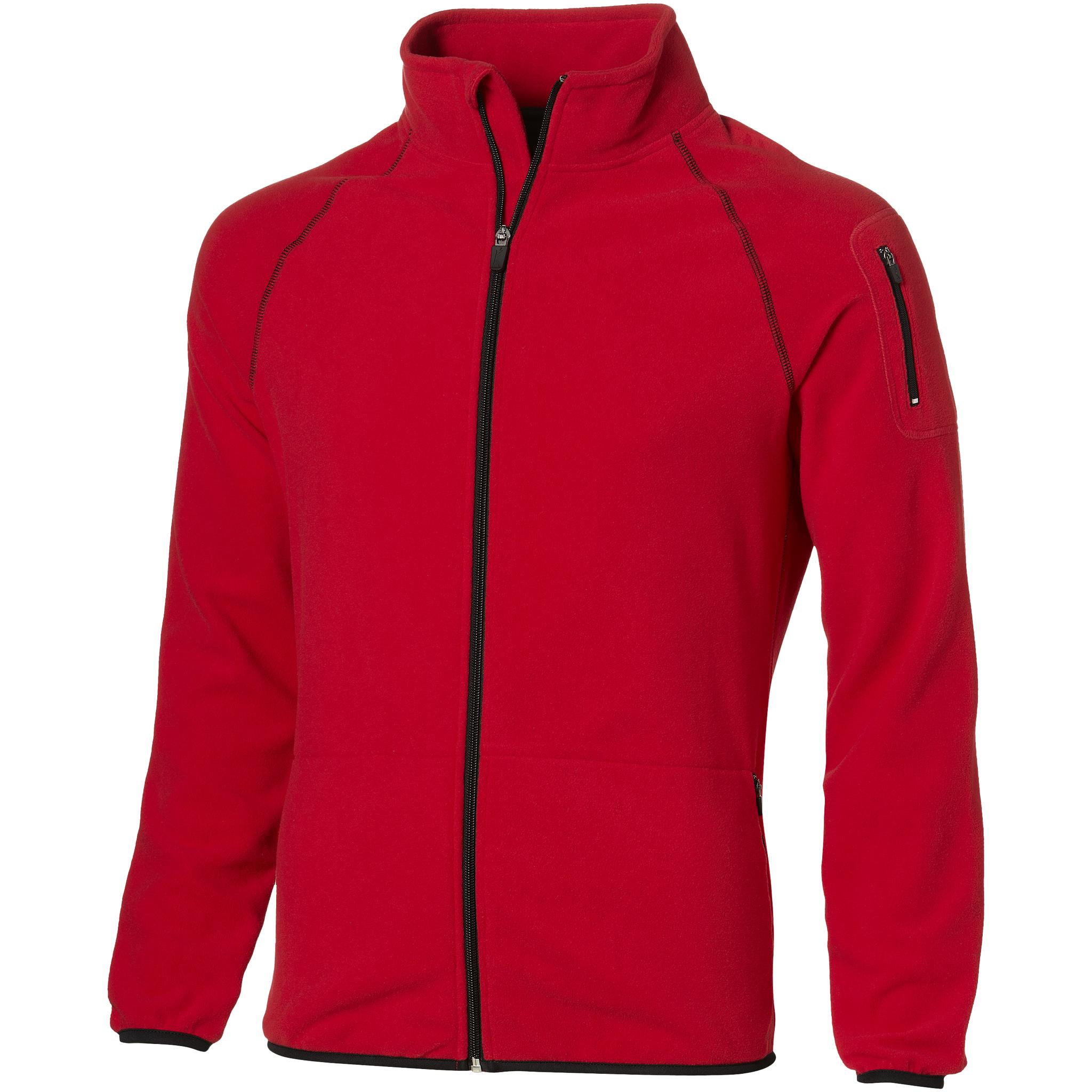 Slazenger Mens Drop Shot Full Zip Micro Fleece Jacket (XXXL) (Red)