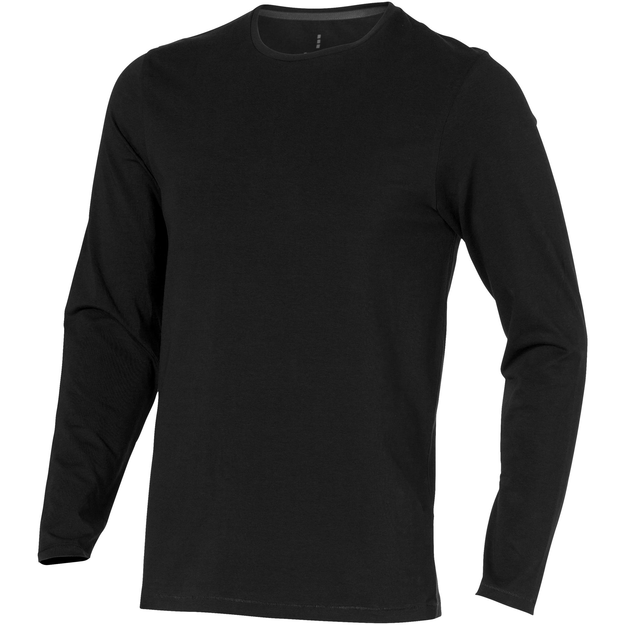 Elevate Mens Ponoka Long Sleeve T-Shirt (XL) (Solid Black)