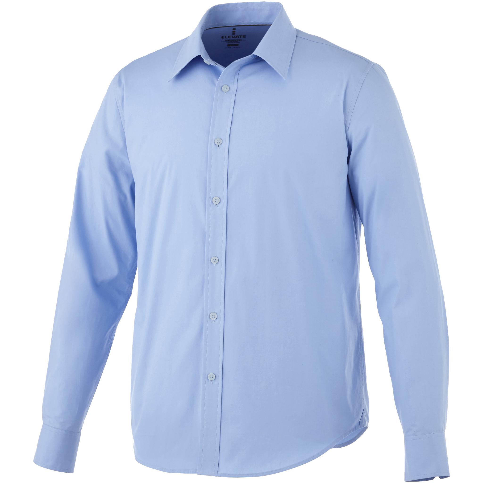 Elevate Mens Hamell Long Sleeve Shirt (XL) (Light Blue)