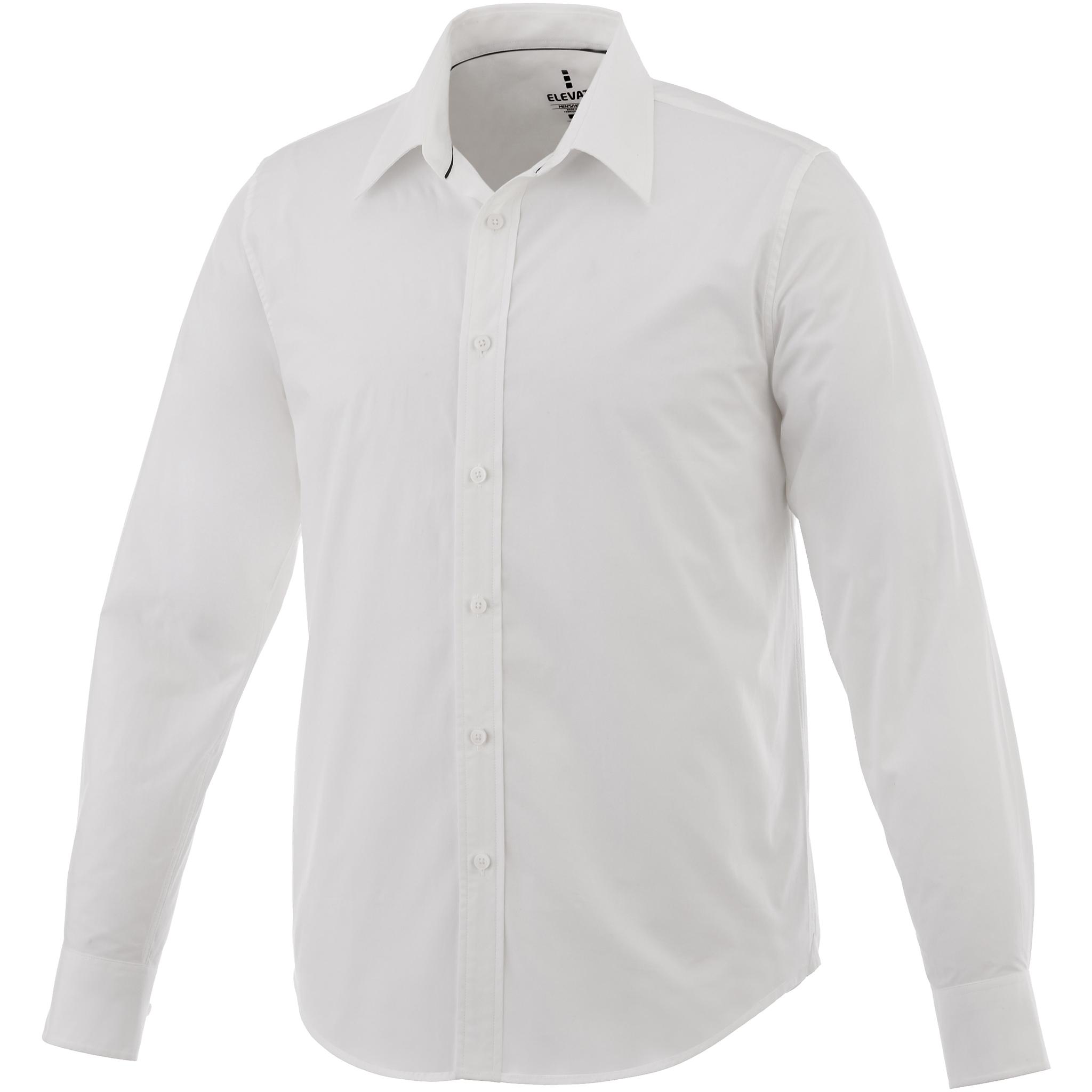 Elevate Mens Hamell Long Sleeve Shirt (L) (White)