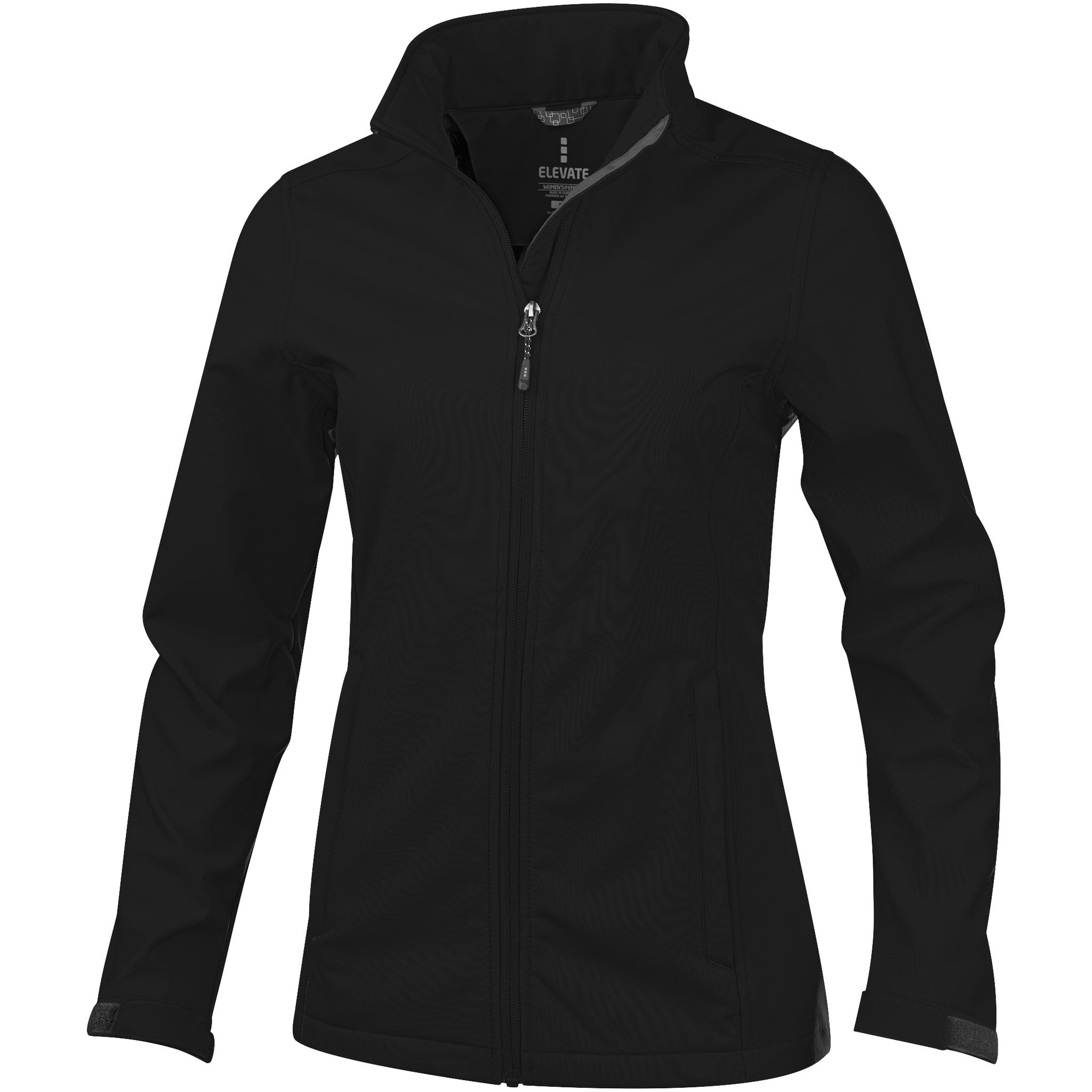 Elevate Womens/Ladies Maxson Softshell Jacket (L) (Solid Black)