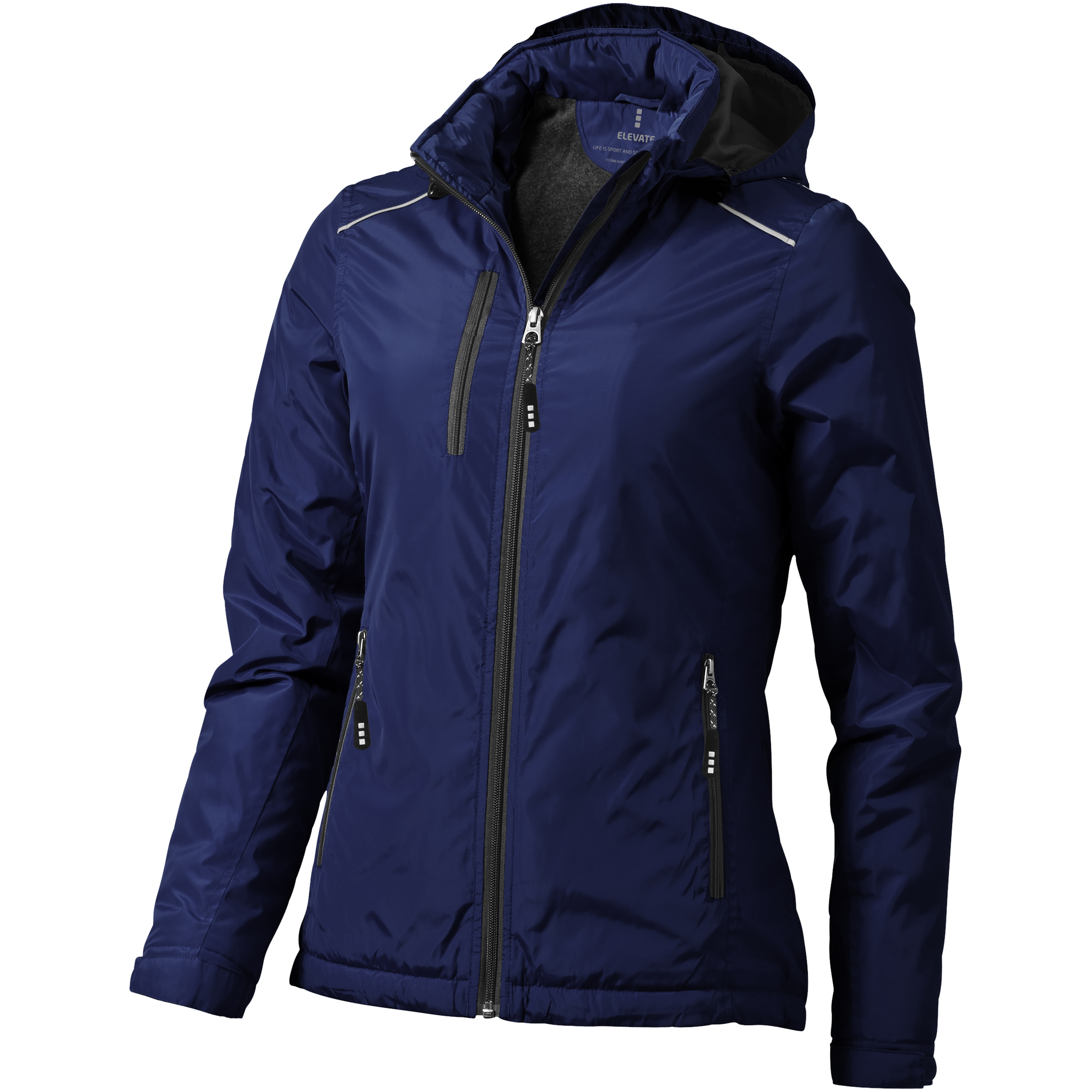Elevate Womens/Ladies Smithers Fleece Lined Jacket (XS) (Navy)