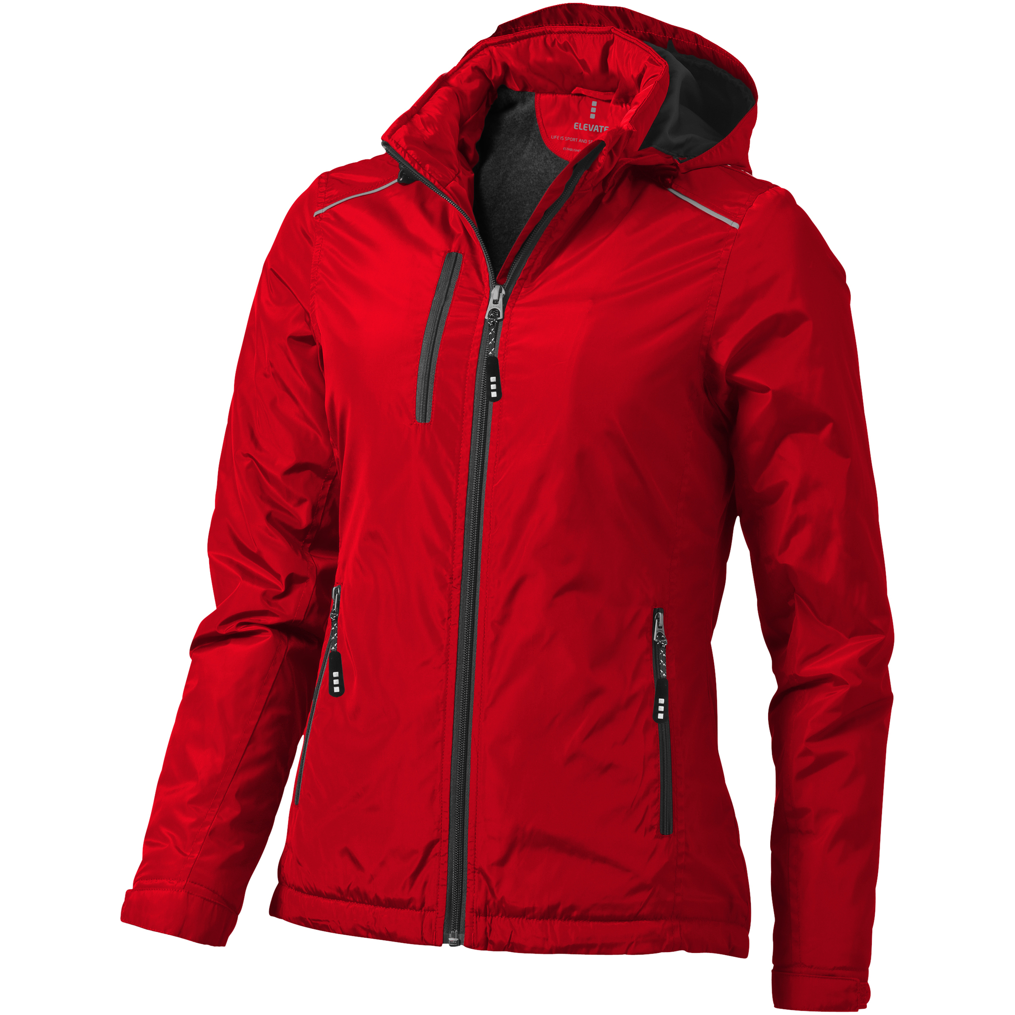 Elevate Womens/Ladies Smithers Fleece Lined Jacket (XS) (Red)