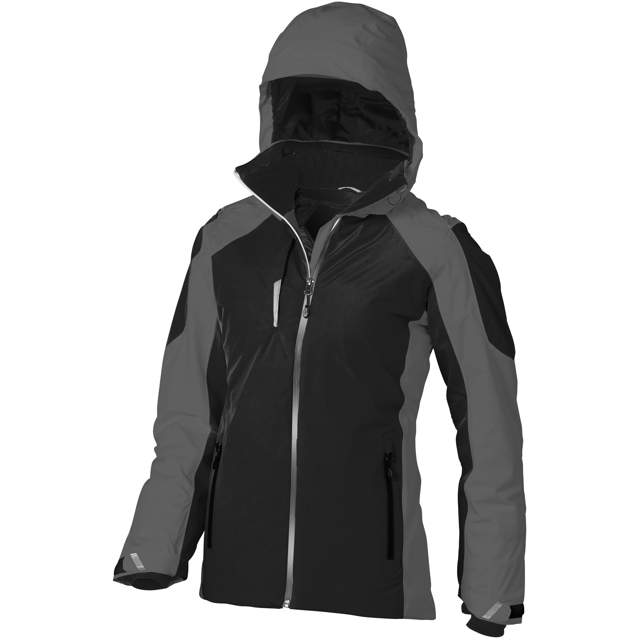 Elevate Womens/Ladies Ozark Insulated Jacket (XL) (Solid Black/Grey)