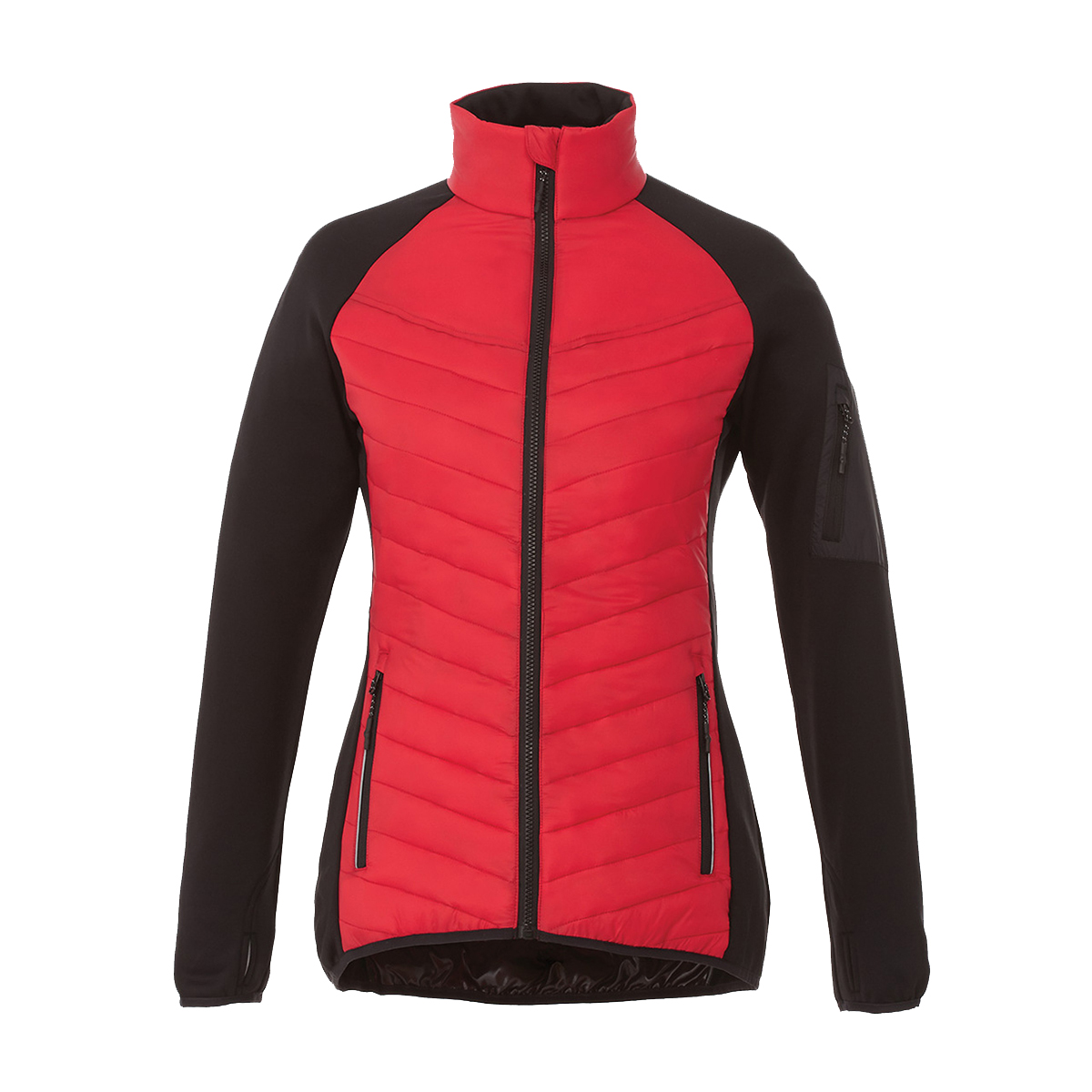 Elevate Womens/Ladies Banff Hybrid Insulated Jacket (M) (Red)