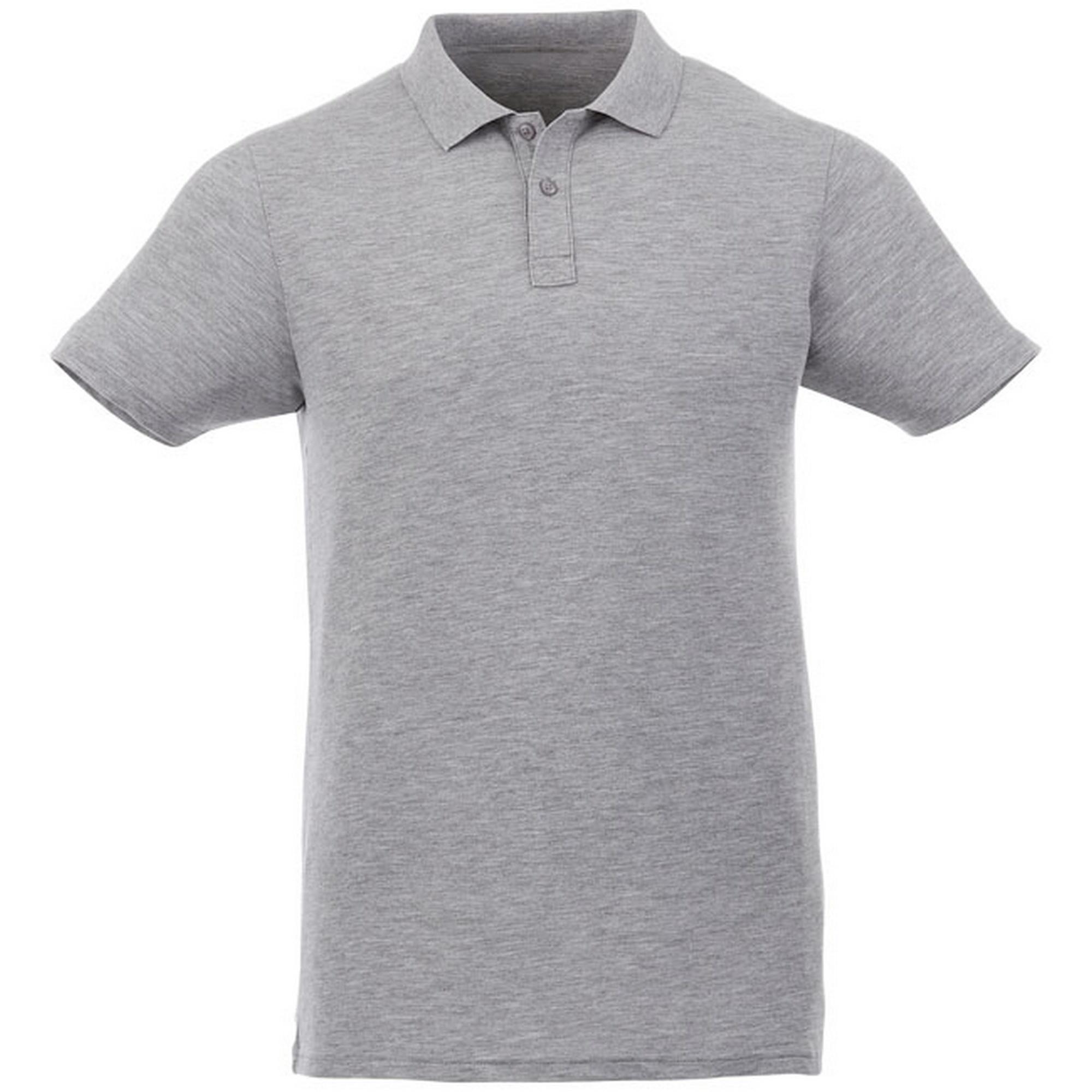 Elevate Liberty Mens Short Sleeve Polo Shirt (XXL) (Heather Grey)