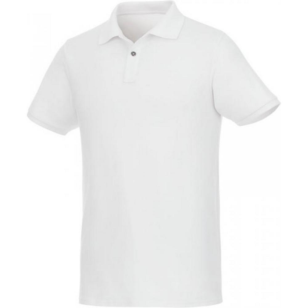 Elevate Mens Beryl Short Sleeve Organic Polo Shirt (M) (White)