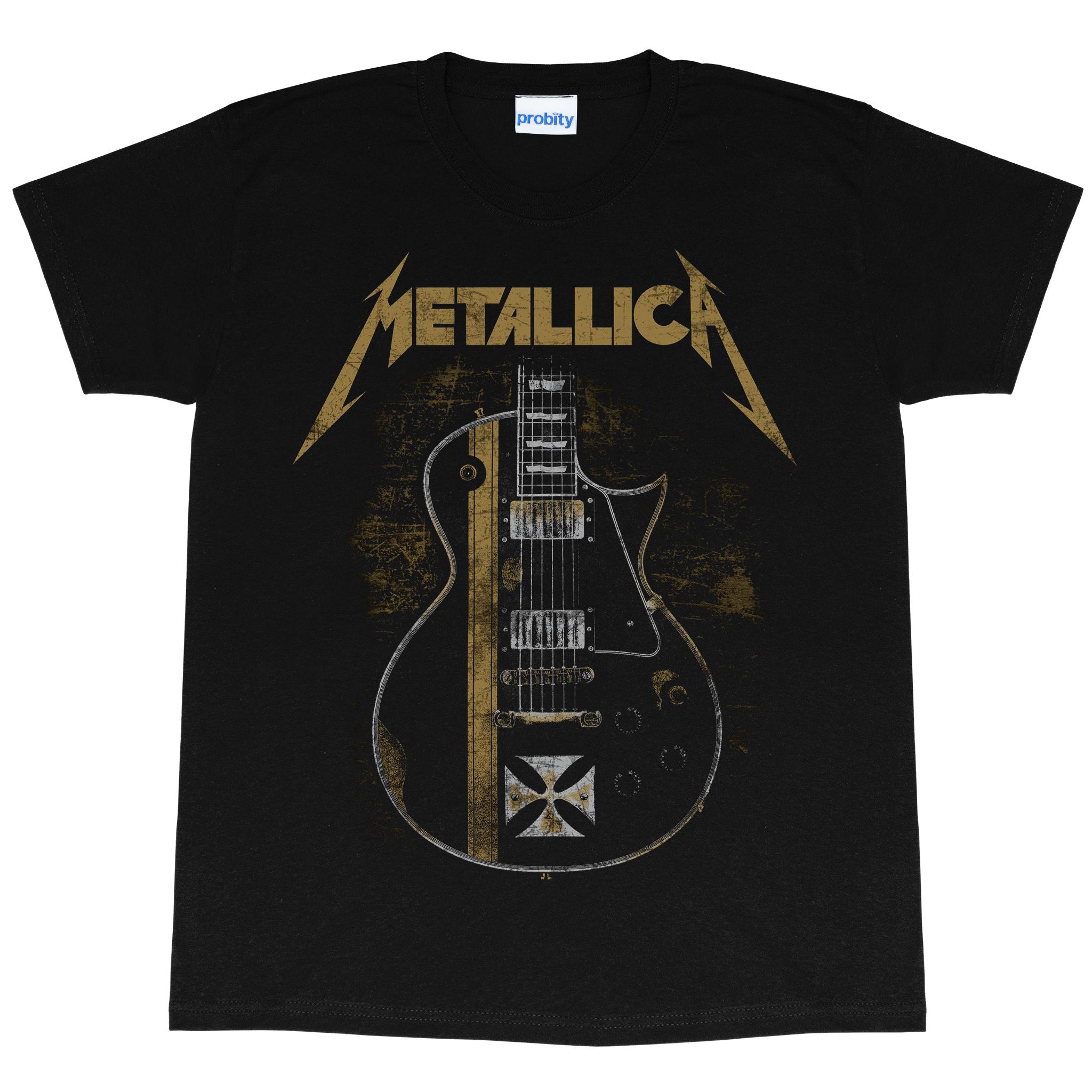 Metallica Mens Hetfield Guitar T-Shirt (5XL) (Black)