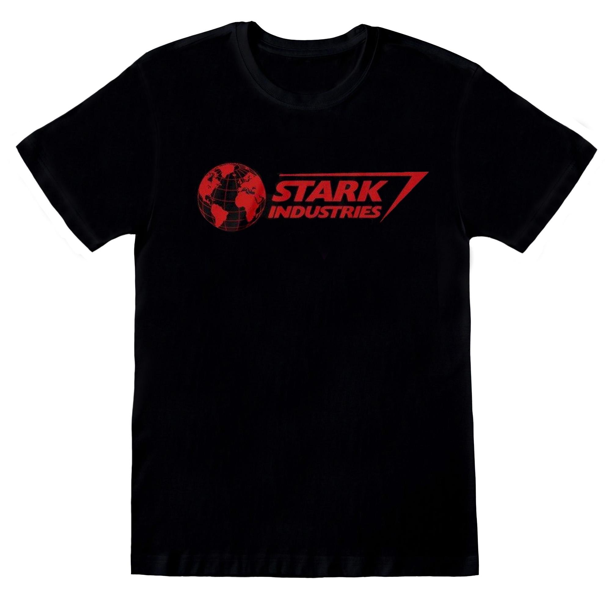 Avengers Assemble Mens Stark Industries Logo T-Shirt (L) (Black)