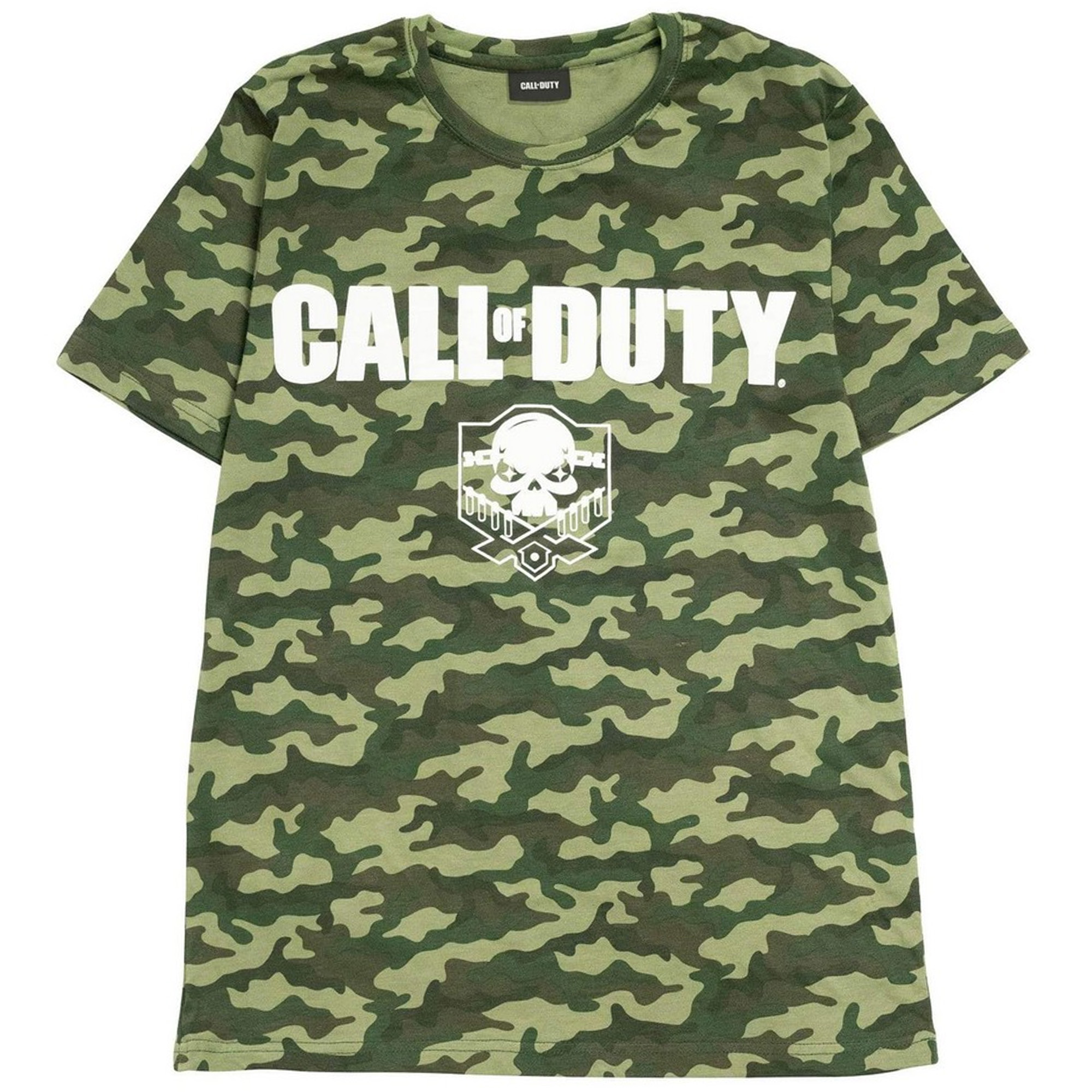 Call Of Duty Mens Camo T-Shirt (L) (Forest Green)
