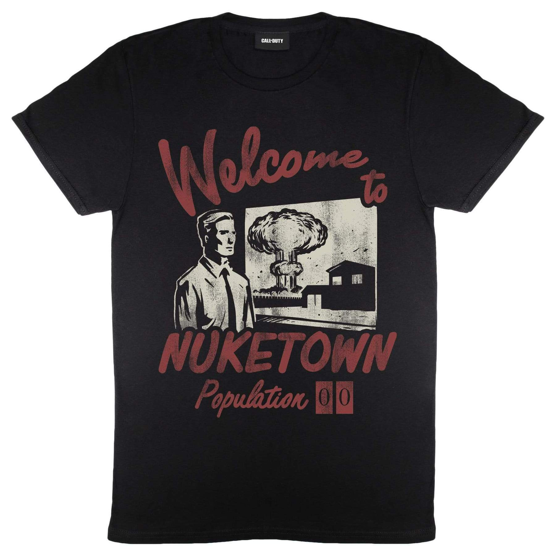 Call Of Duty Mens Welcome To Nuketown Cold War Zombies T-Shirt (XL) (Black)