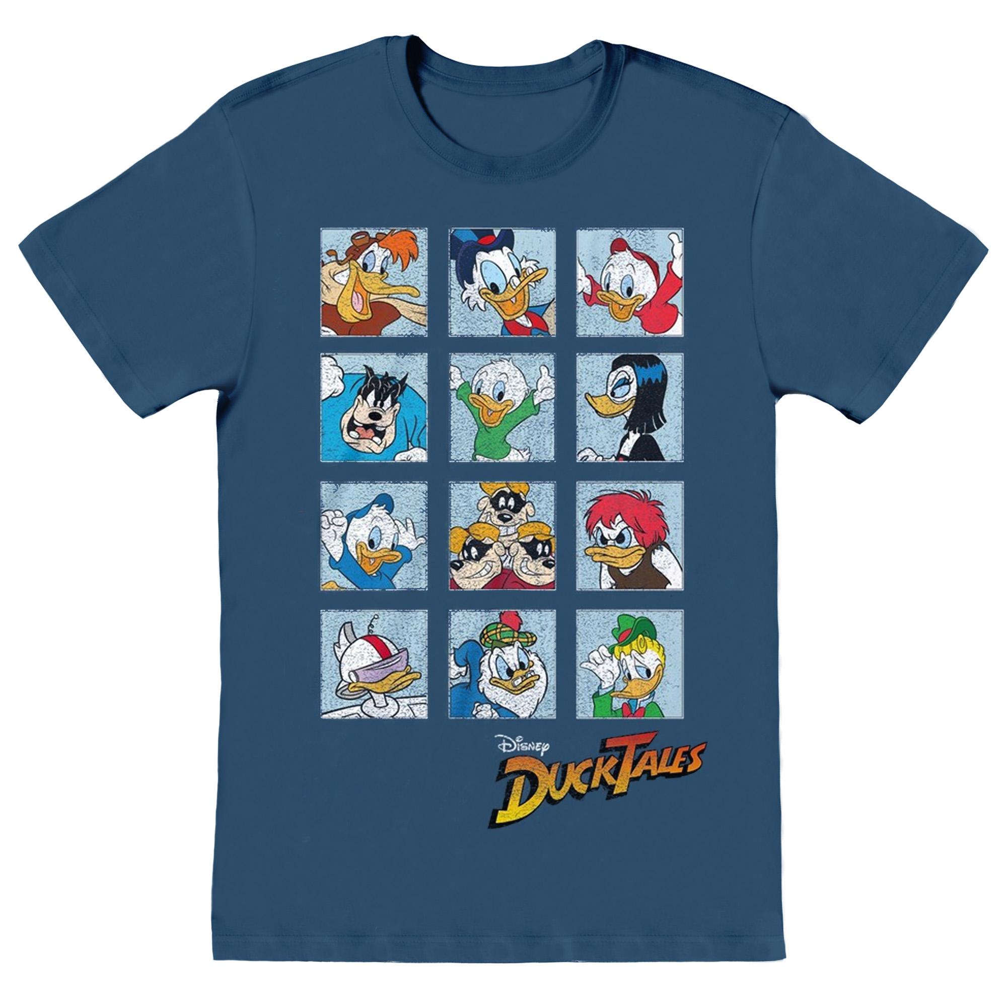 Disney Mens Duck Tales Squares T-Shirt (S) (Indigo Blue)