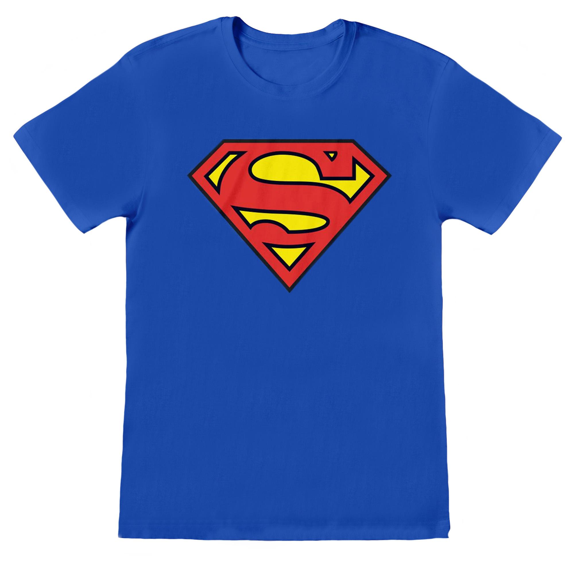 Superman Mens Logo T-Shirt (S) (Royal Blue)