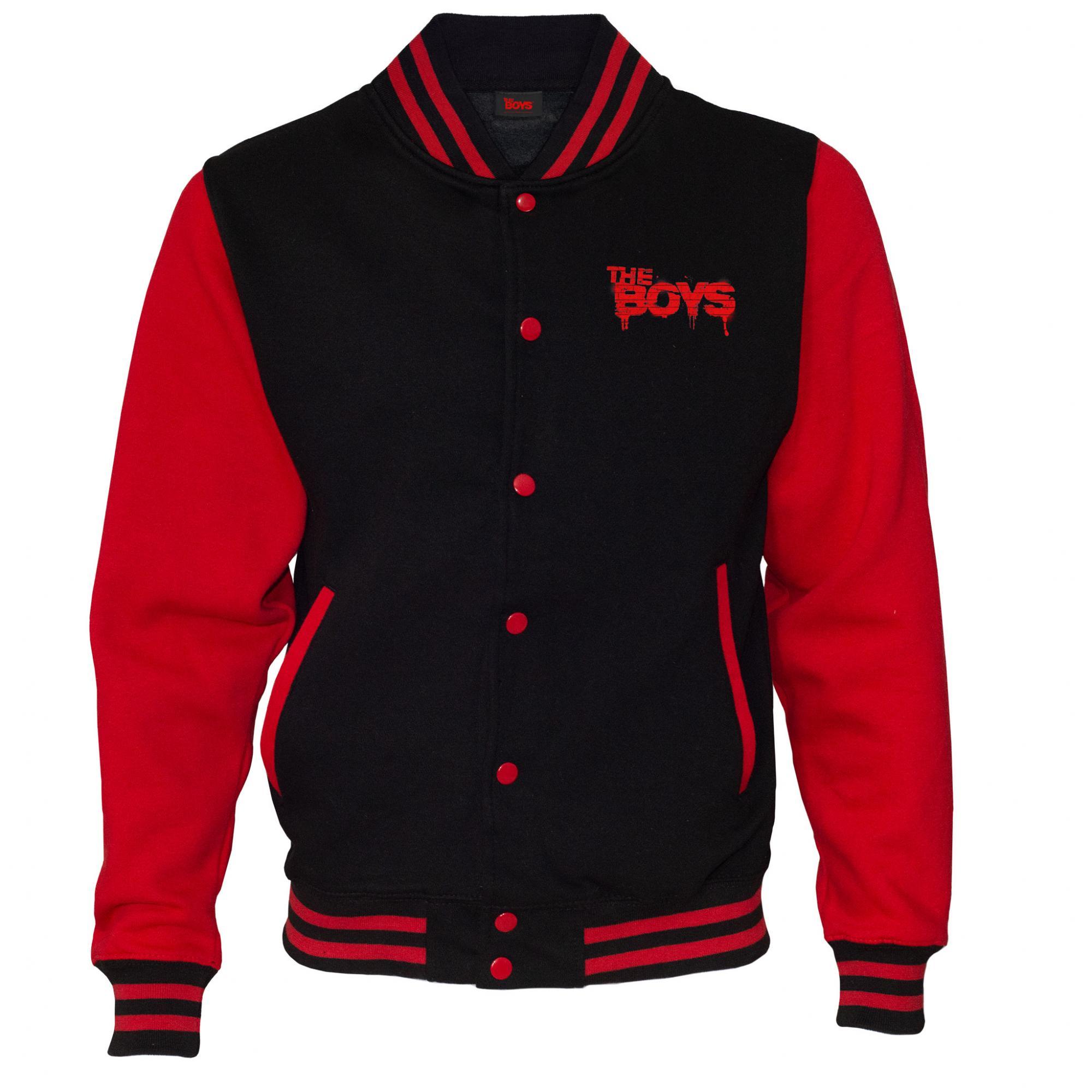 The Boys Womens/Ladies Supes Graffiti Varsity Jacket (3XL) (Red/Black)