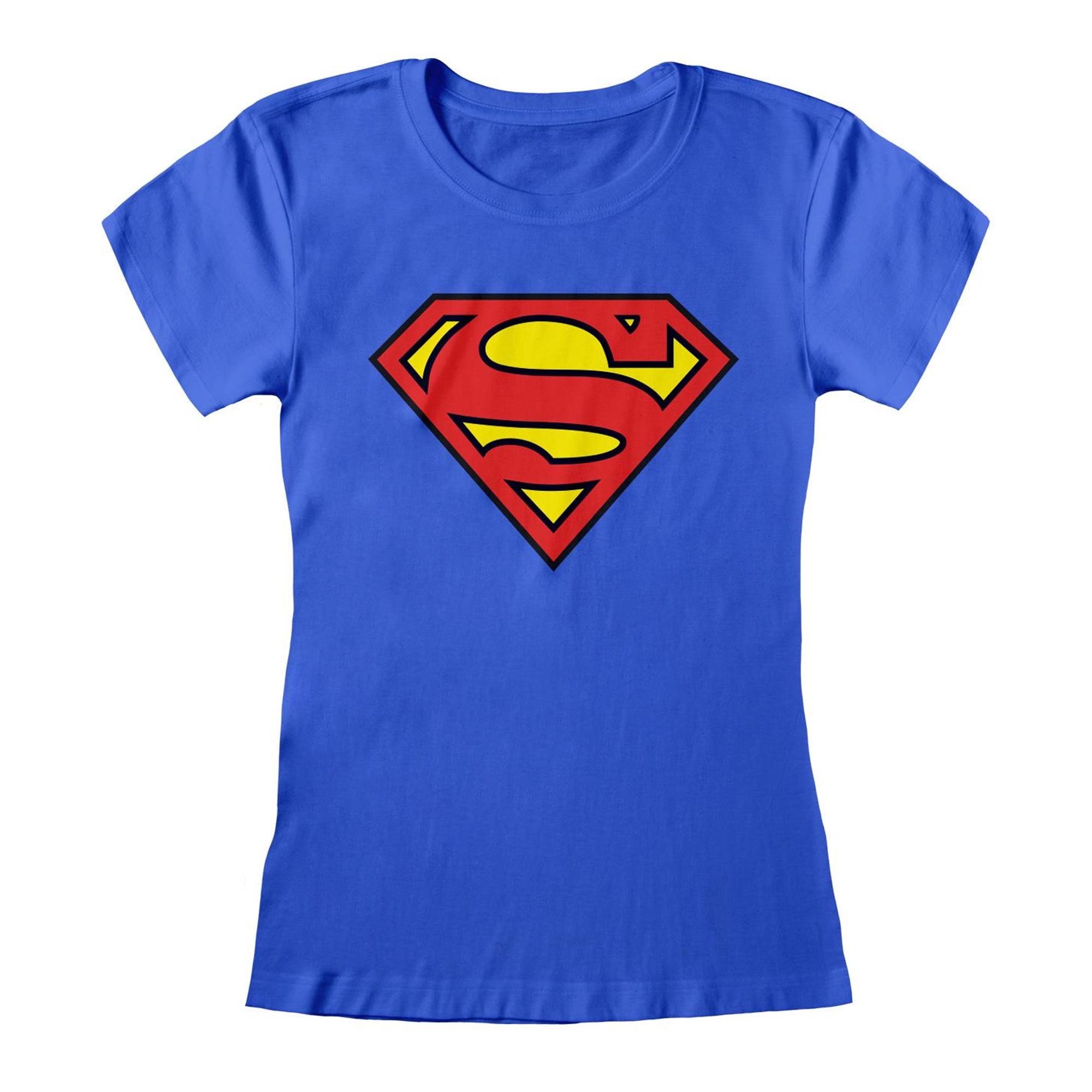 Superman Womens/Ladies Logo Fitted T-Shirt (M) (Royal Blue)