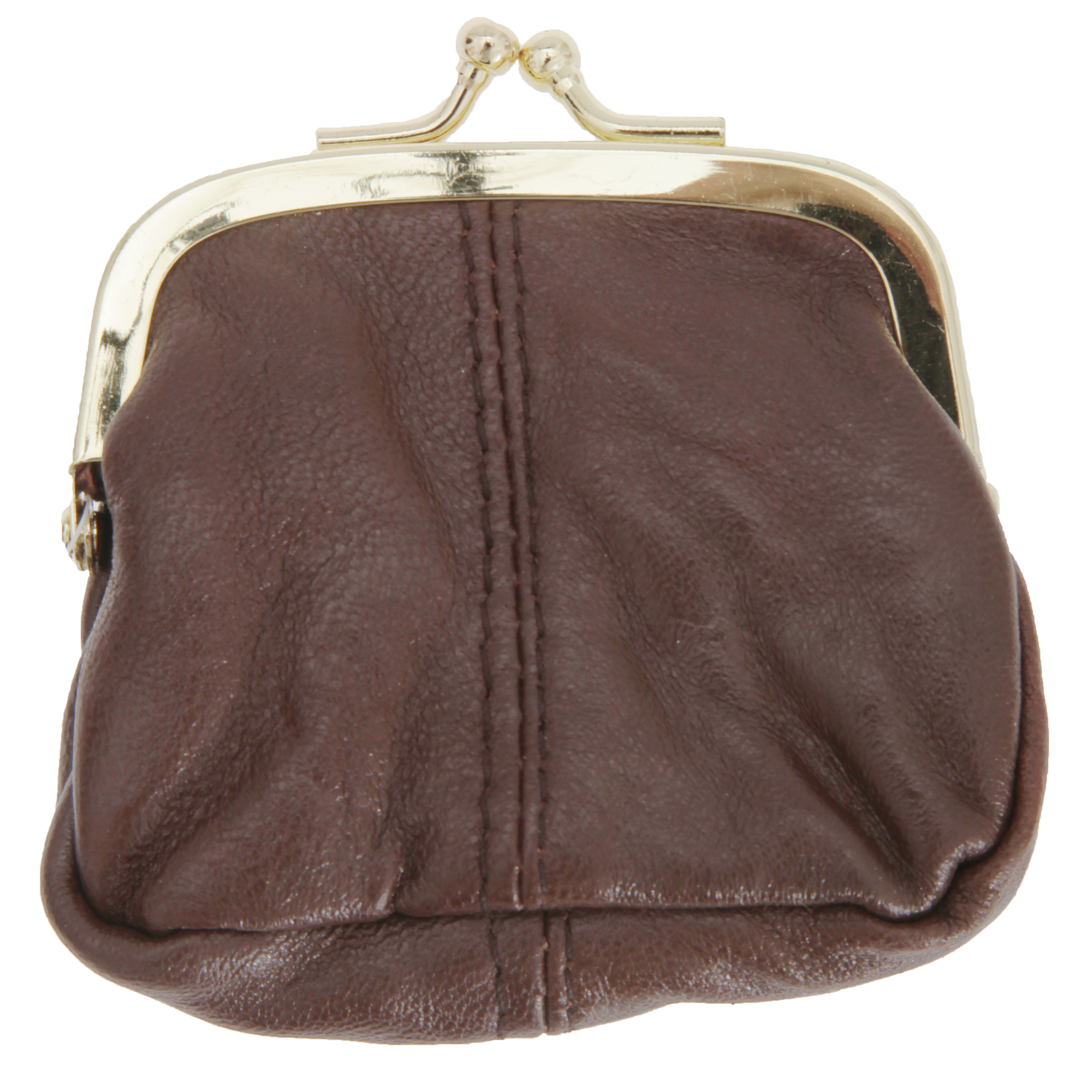 Womens/Ladies Soft Leather Coin Purse With Metal Clasp (One Size) (Tan)