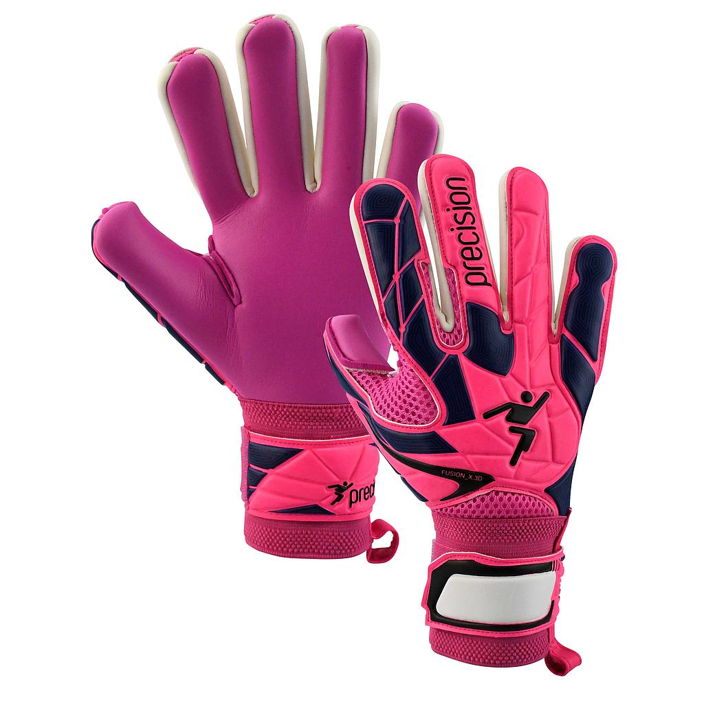 Precision Womens/Ladies Fusion_X.3D Negative Goalkeeper Gloves (8) (Pink/Black/Purple)