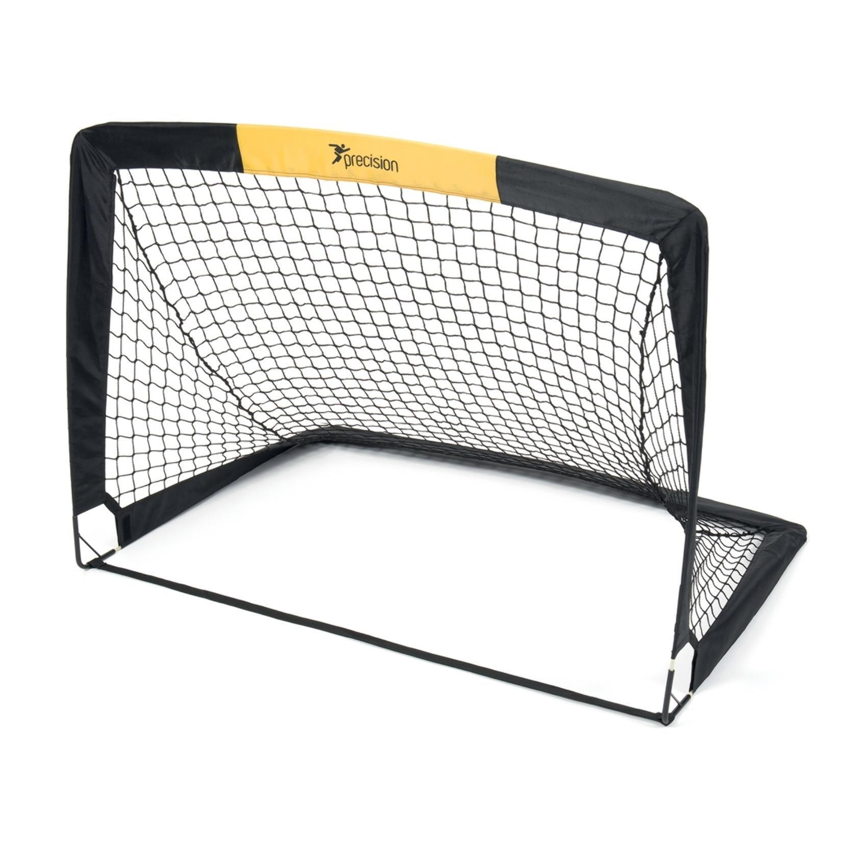 Precision Pop Up Football Goal (Pack of 2) (4.5ft x 3.5ft) (Black)