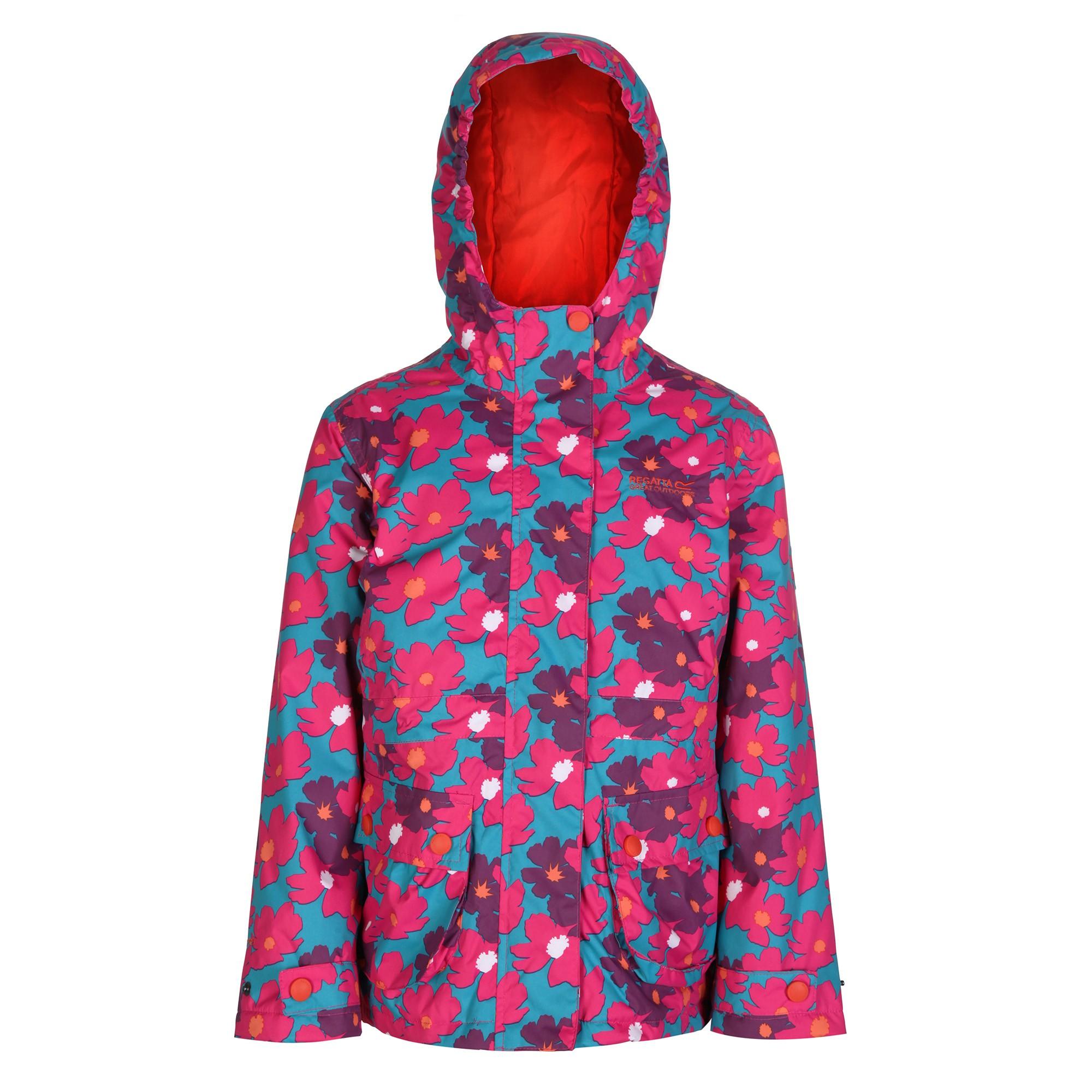 Regatta Great Outdoors Childrens Girls Bouncy Waterproof Jacket (11/12) (Enamel)