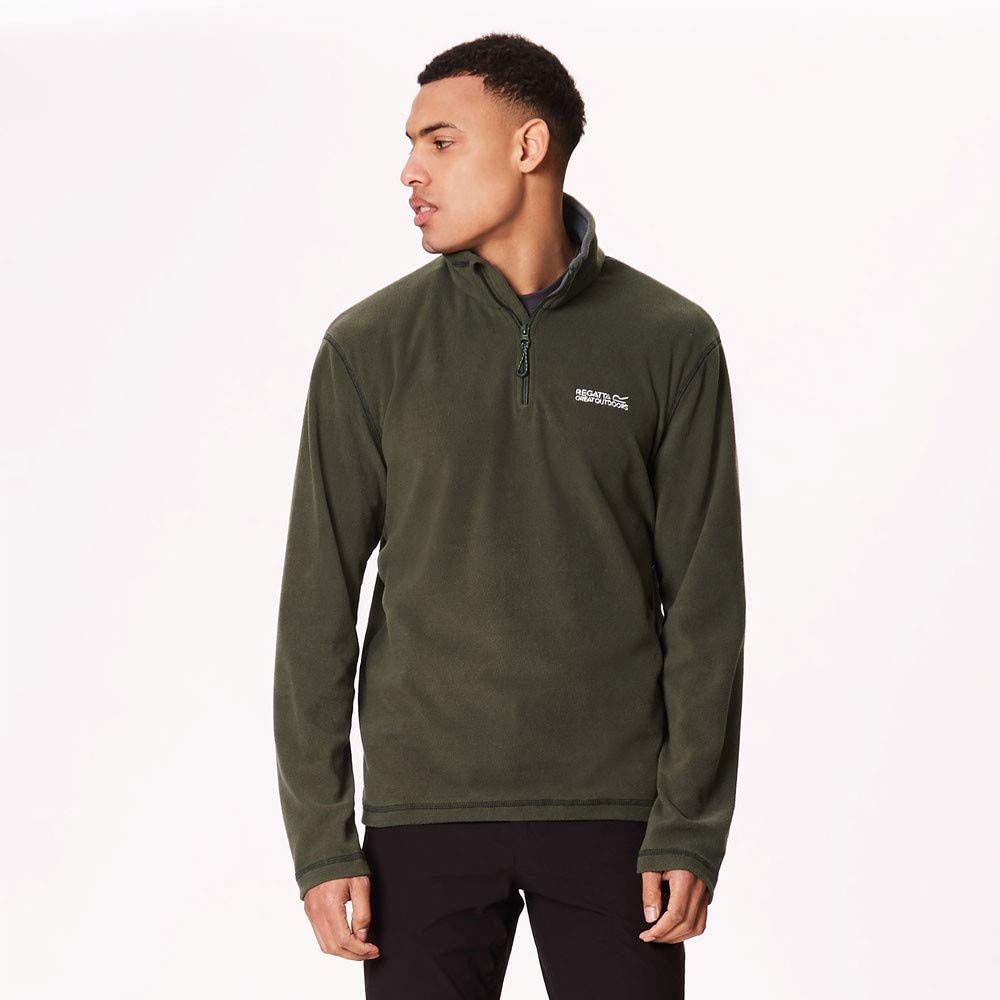 Regatta-Great-Outdoors-Para-Hombre-Thompson-Half-Zip-Polar-Top-RG1390 miniatura 4