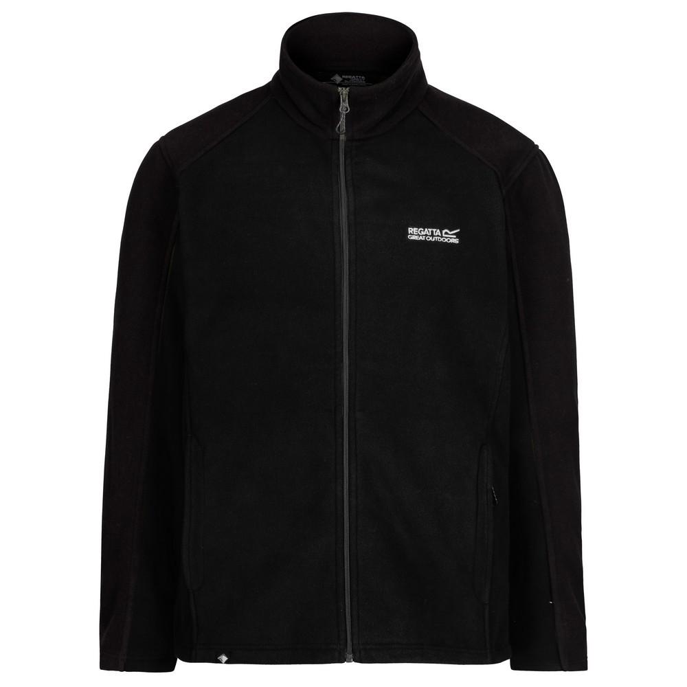 Regatta Great Outdoors Mens Hedman II Two Tone Full Zip Fleece Jacket (XL) (Black/Black)