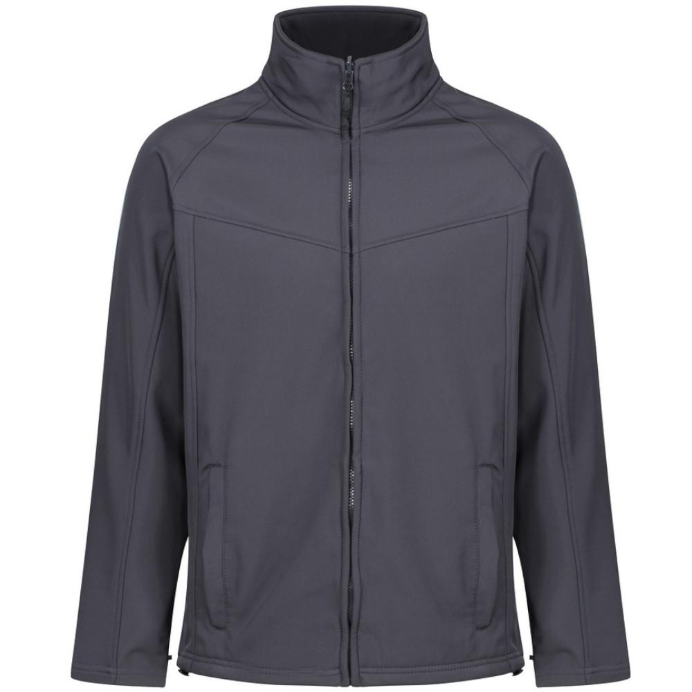 Regatta Uproar Mens Softshell Wind Resistant Fleece Jacket (XXXL) (Seal Grey)