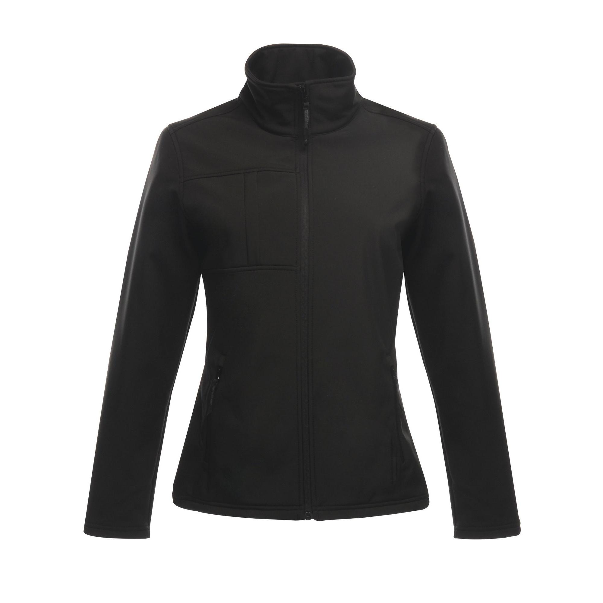 Regatta Professional Womens/Ladies Octagon II Waterproof Softshell Jacket (14) (Black/Black)