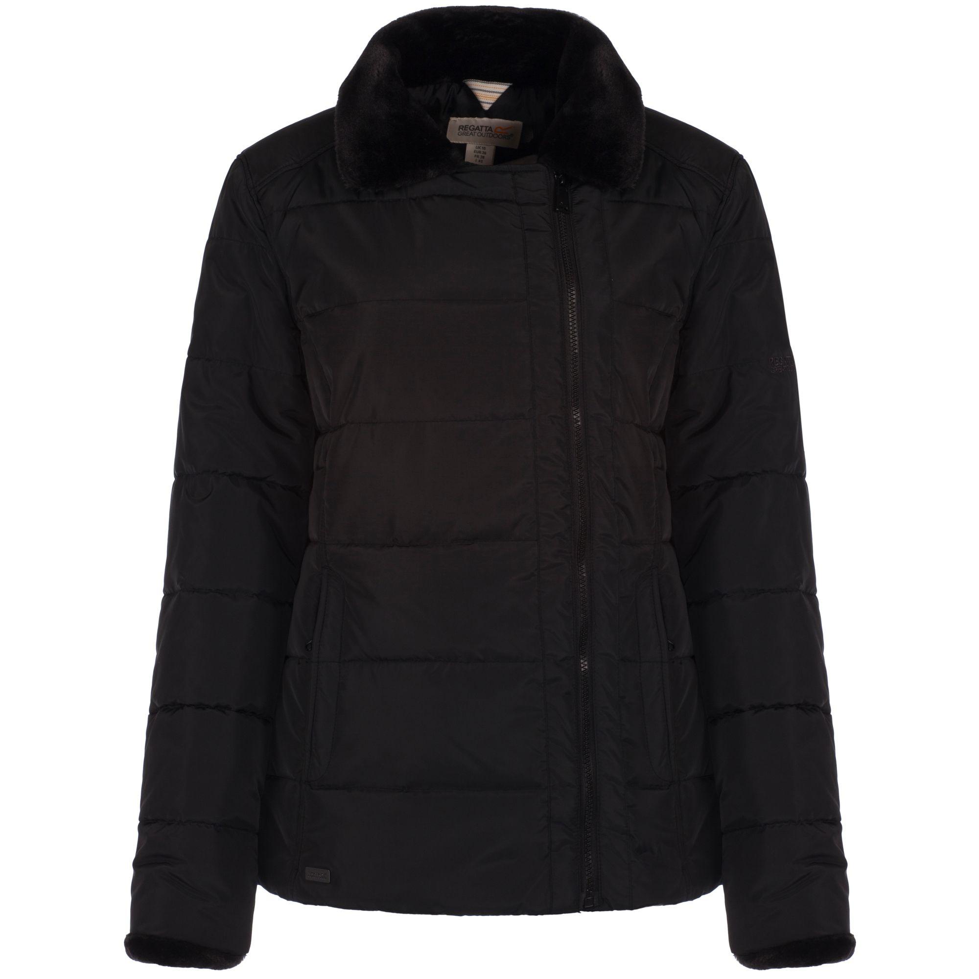 Regatta Great Outdoors Womens/Ladies Wren Showerproof Winter Jacket (14) (Black)