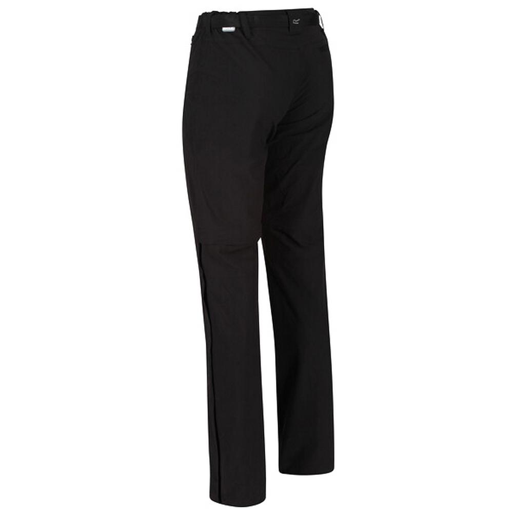 Regatta Great Outdoors Womens/Ladies Xert II Quick Drying Convertible Walking Trousers (33S) (Black)