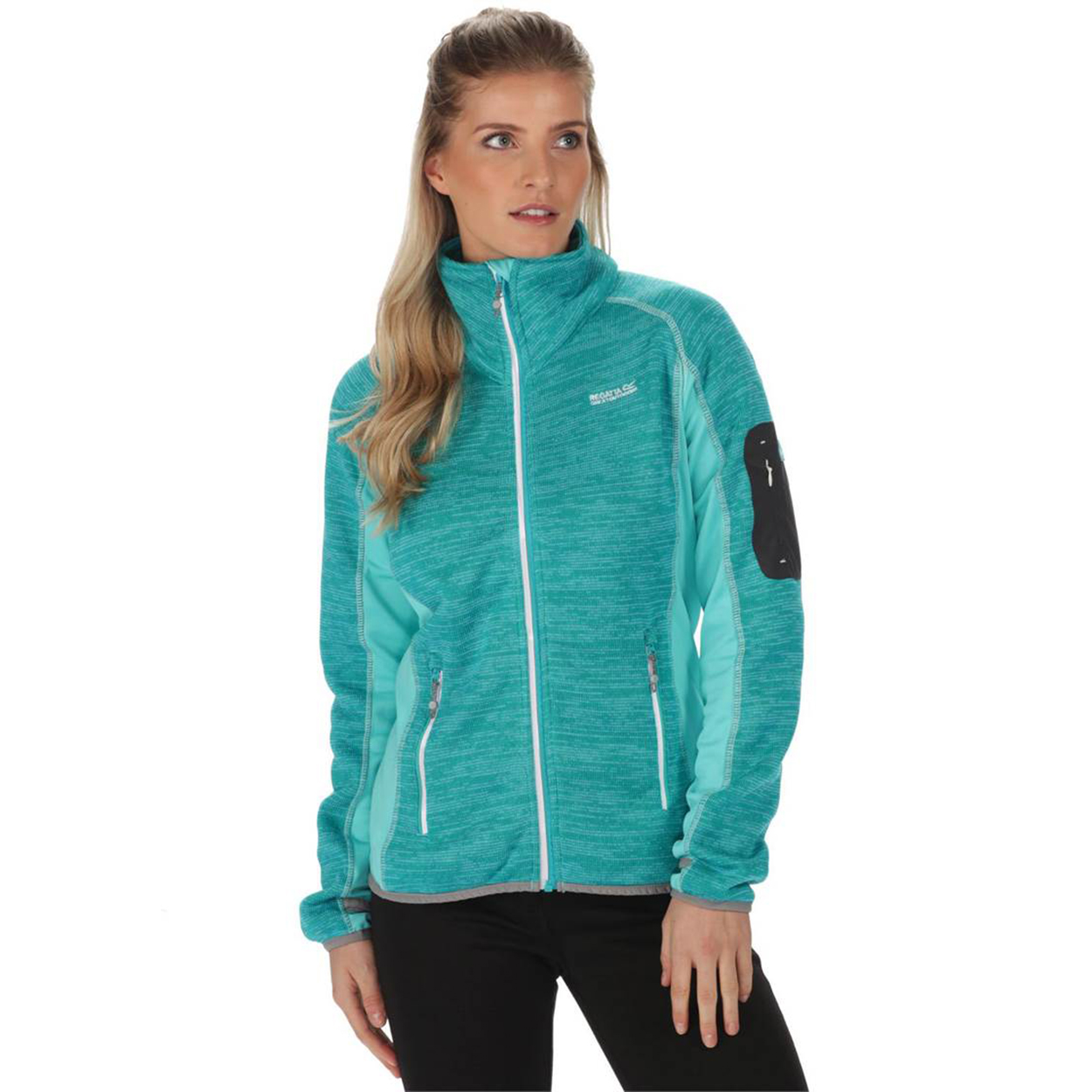 Regatta Great Outdoors Womens/Ladies Laney III Fleece Jacket (26) (Aqua/Horizon)