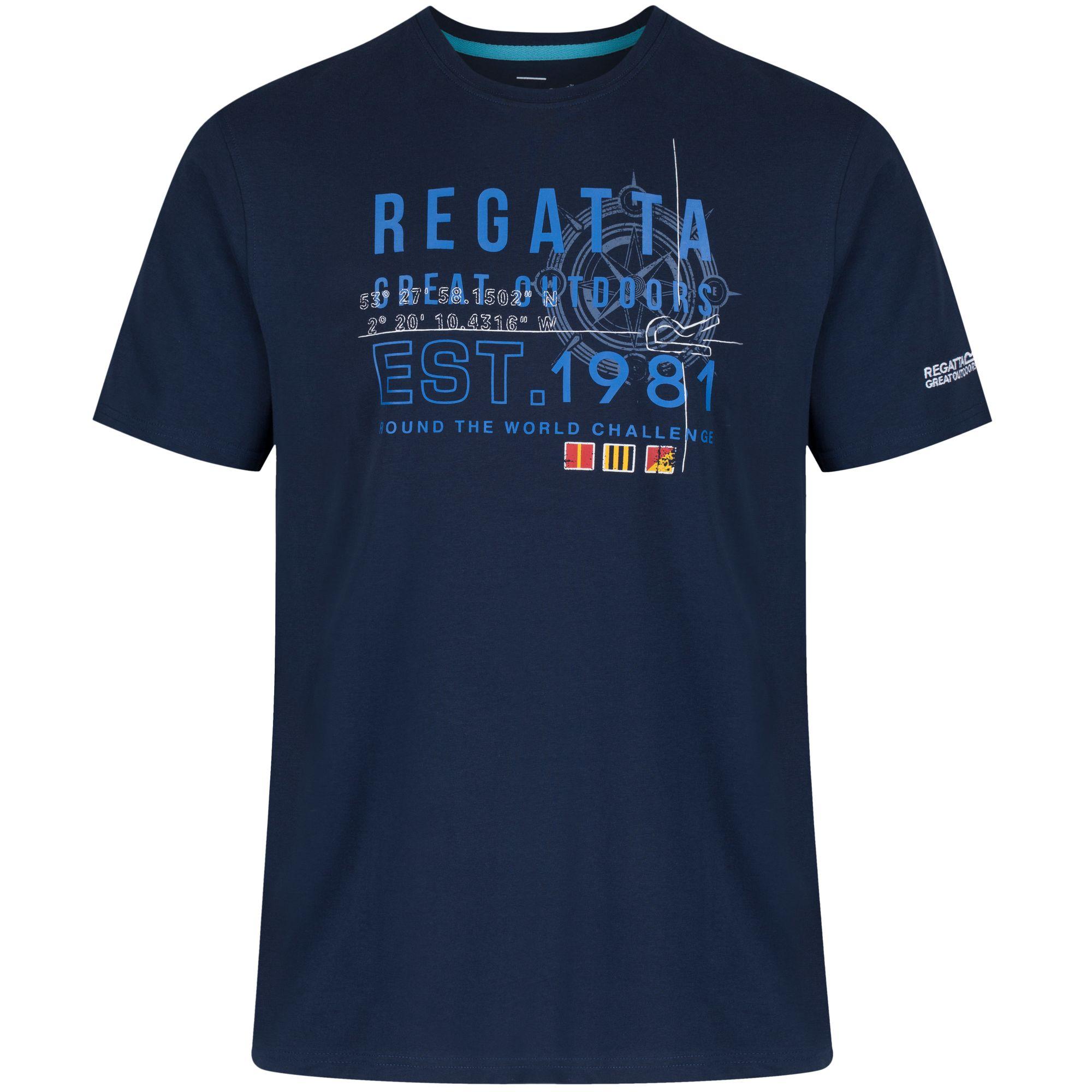 Regatta-Great-Outdoors-Cline-Maglietta-a-manica-corta-in-cotone-Uomo