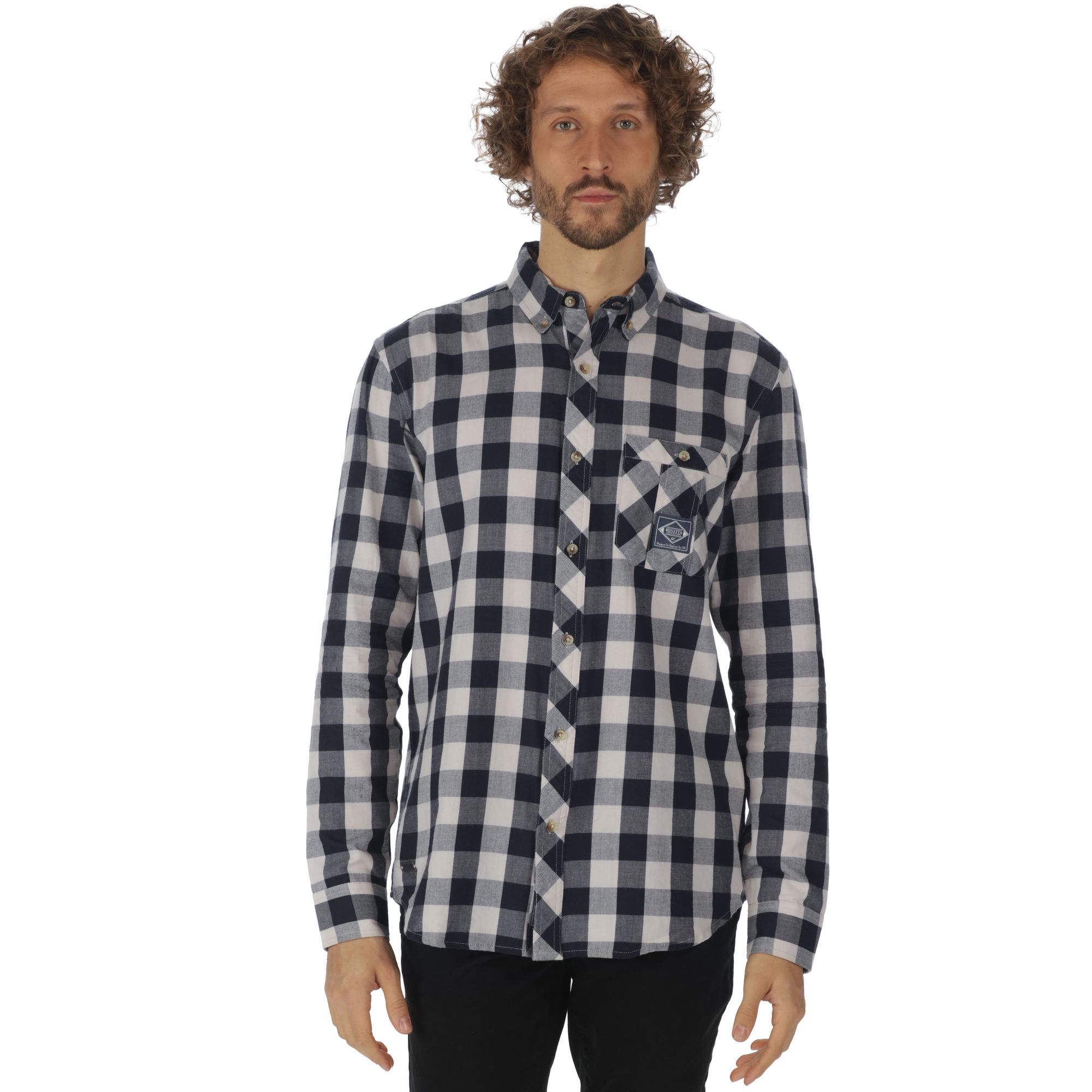 Regatta-Camisa-de-manga-larga-modelo-Loman-para-hombre-RG2858