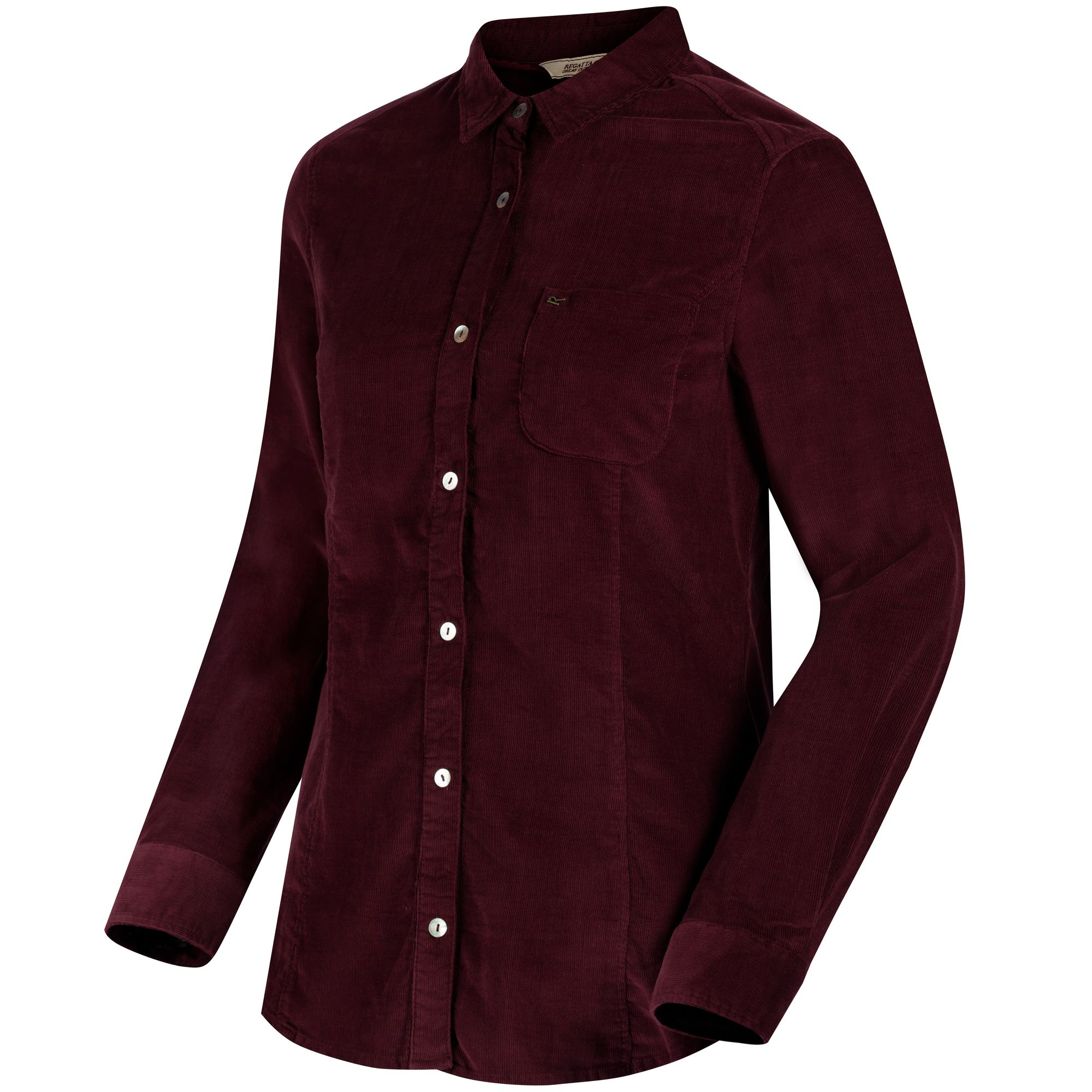 Regatta Great Outdoors Womens/Ladies Maliyah Coolweave Cotton Cord Shirt (12) (Fig)