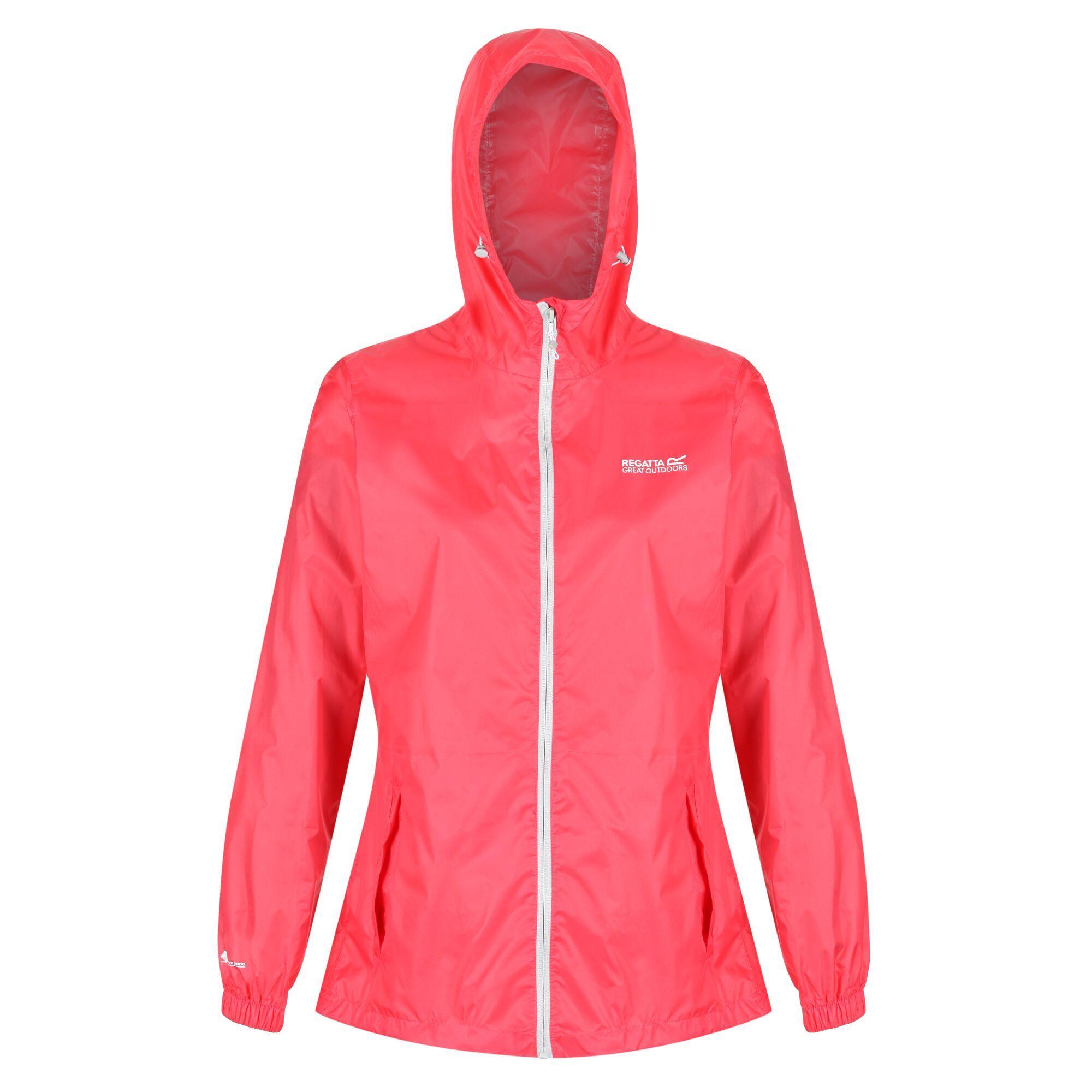 Regatta Womens/Ladies Pk It Jkt III Waterproof Hooded Jacket (10 UK) (Neon Pink)