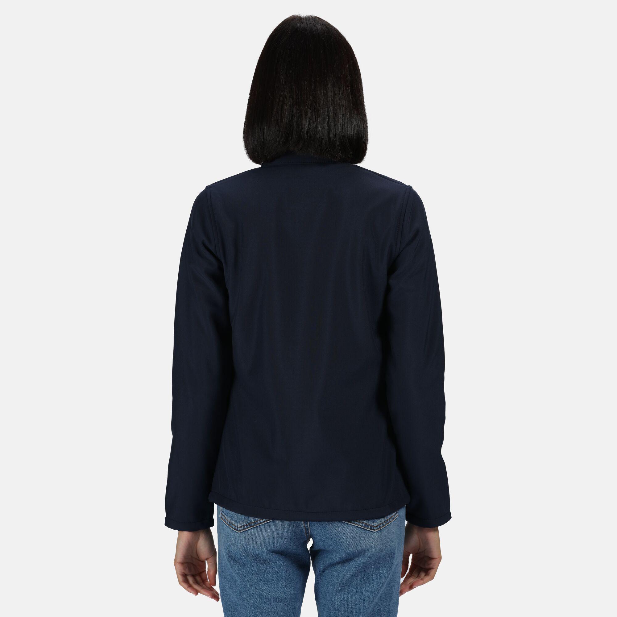 Regatta Womens/Ladies Ablaze Printable Softshell Jacket (12 UK) (Navy/Navy)