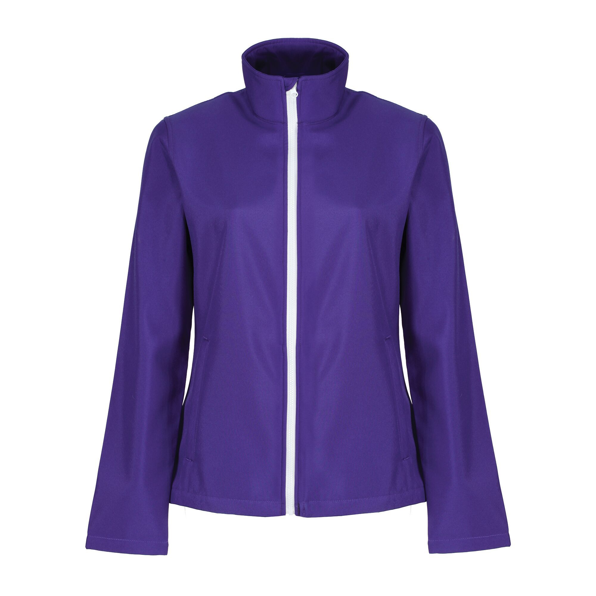 Regatta Womens/Ladies Ablaze Printable Softshell Jacket (14 UK) (Purple/Black)