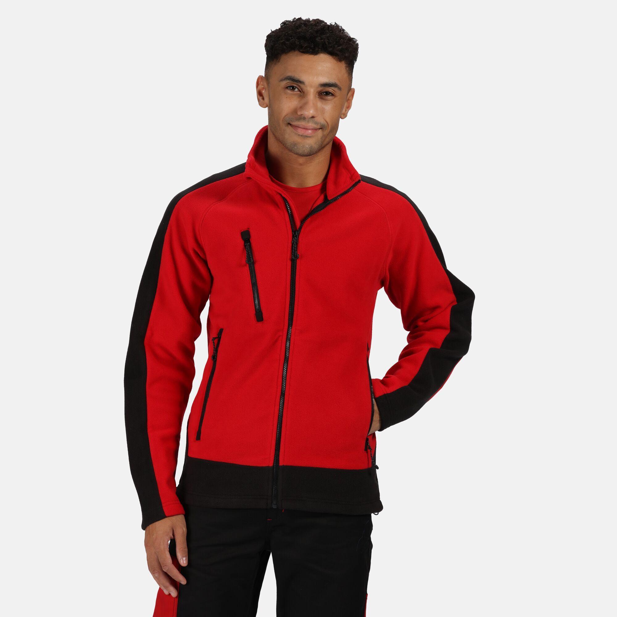 Regatta Mens Contrast Fleece Jacket (XXXL) (Classic Red/Black)