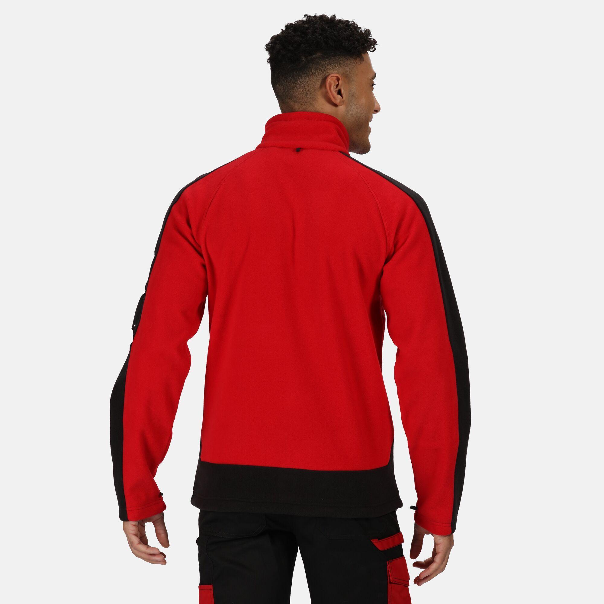 Regatta Mens Contrast Fleece Jacket (XS) (Seal Grey/Black)