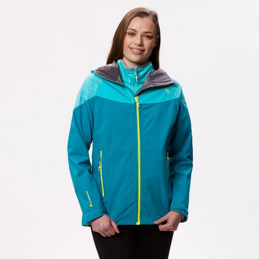 Regatta Womens/Ladies Carletta III Hooded Jacket (UK Size 20) (Pearl Gentian Blue/Pastel Blue)