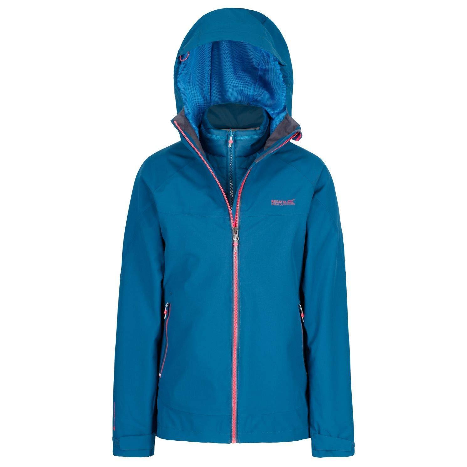 Regatta Womens/Ladies Wentwood III Hooded Jacket (UK Size 18) (Papyrus White/Raspberry Red)