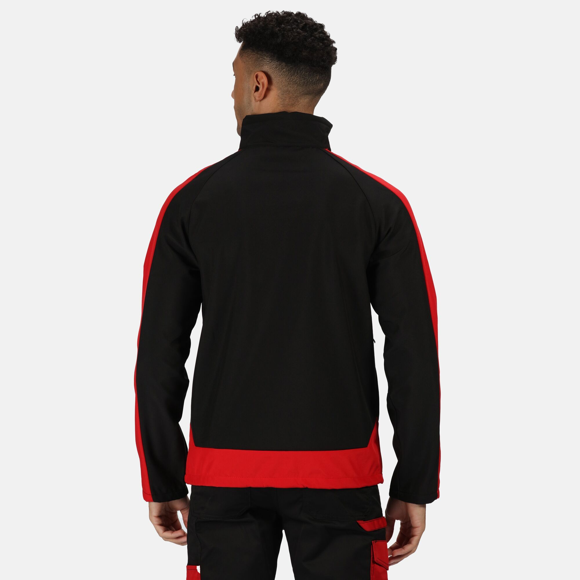 Regatta Mens Contrast 3 Layer Softshell Full Zip Jacket (XXL) (Slate Grey/Signal Black)