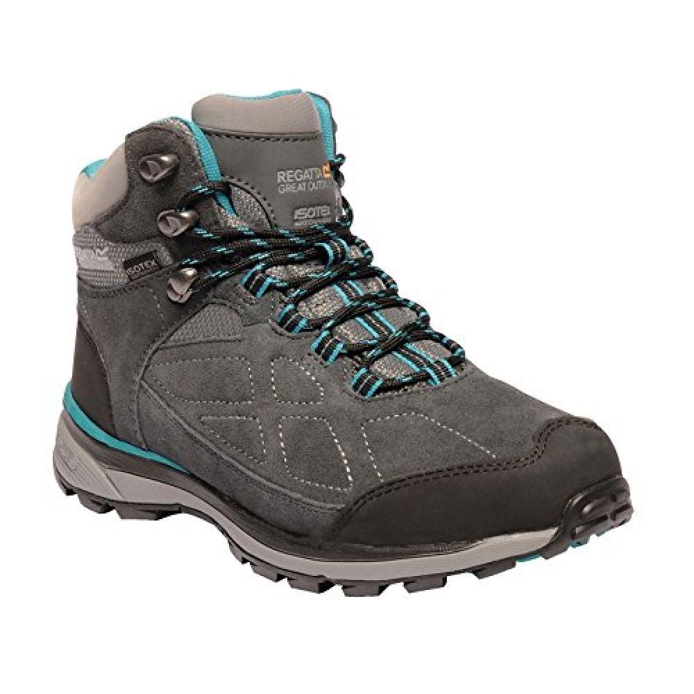 Regatta Womens/Ladies Samaris Suede Walking Boots (5 UK) (Briar/Atlantis Blue)