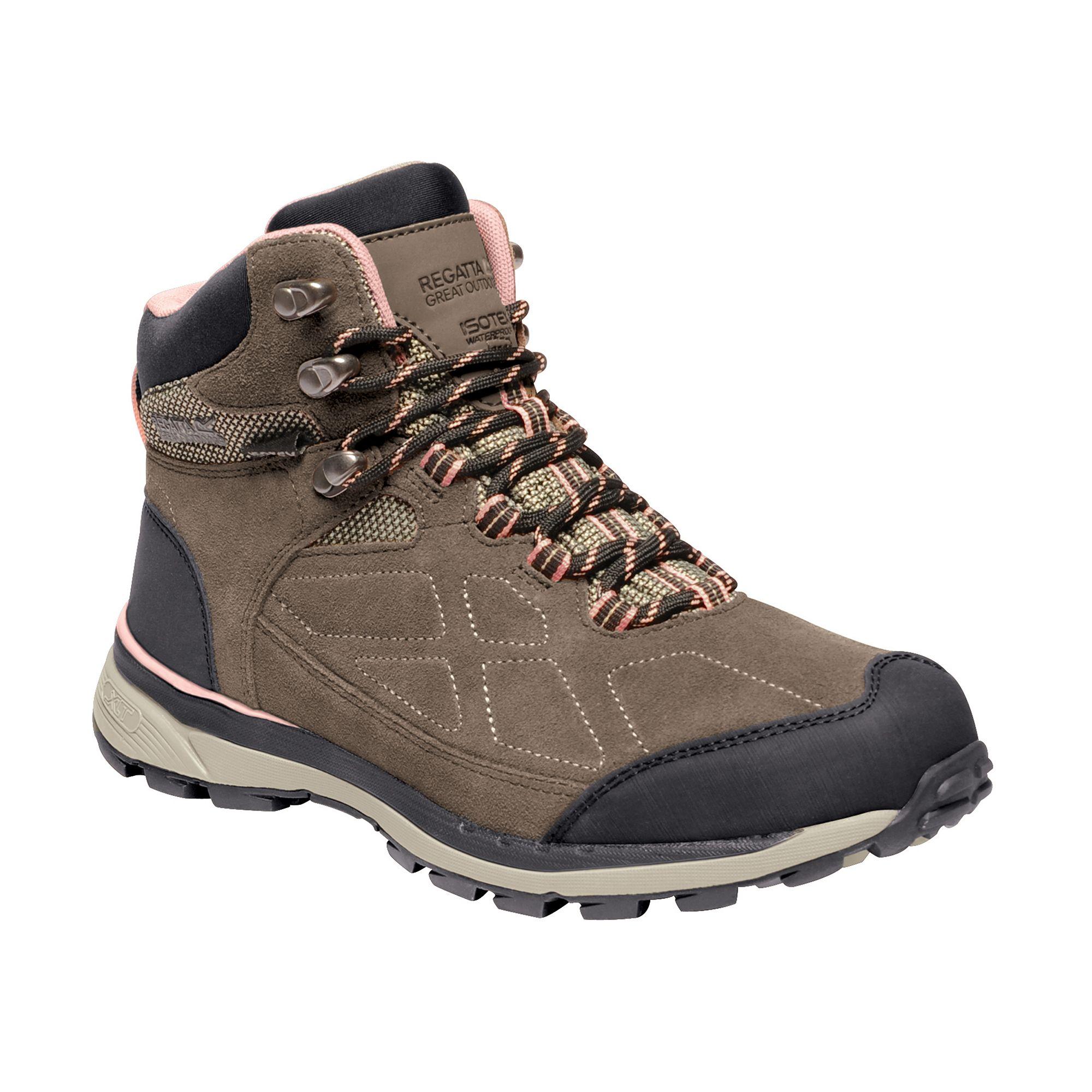 Regatta Womens/Ladies Samaris Suede Walking Boots (5 UK) (Walnut/Mellow Rose)