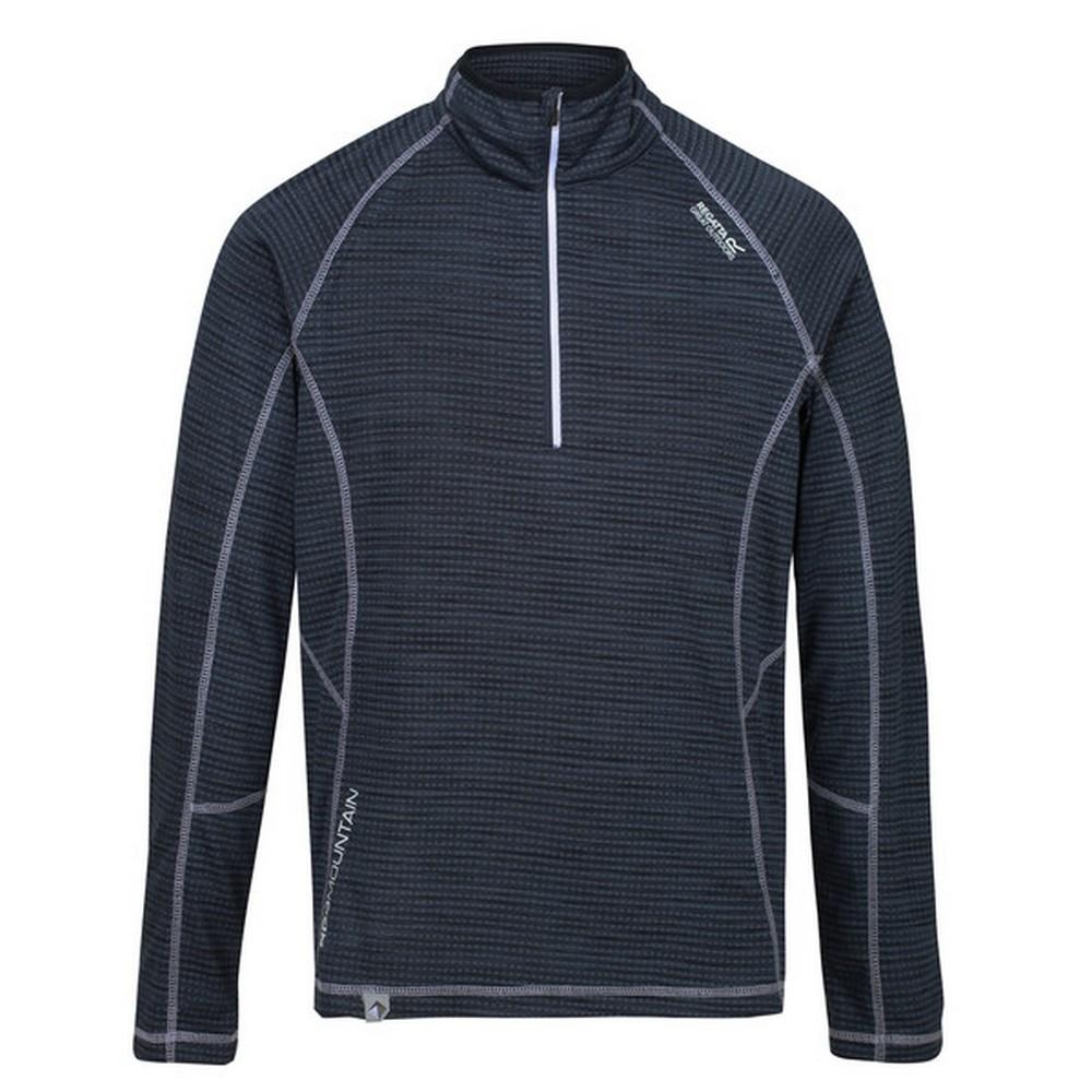 Regatta Mens Yonder Quick Dry Moisture Wicking Half Zip Fleece Jacket (S) (Brunswick Blue)