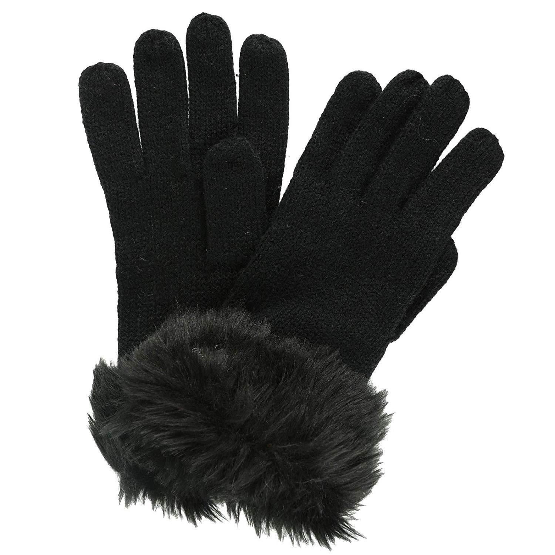 Regatta Great Outdoors Womens/Ladies Luz Jersey Knit Gloves (L/XL) (Black)