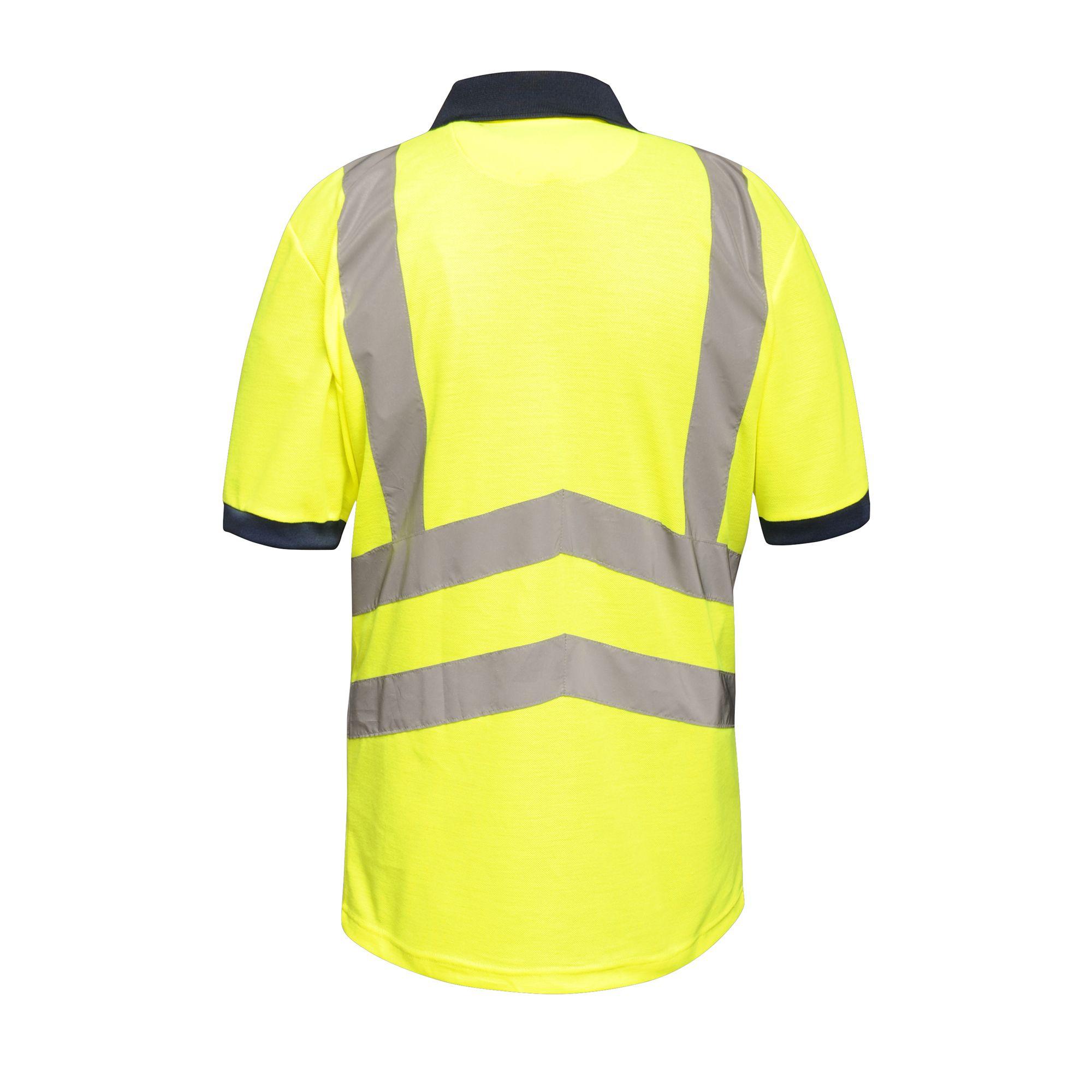 RG3983 Regatta Mens Hi Vis Pro Reflective Work Polo Shirt