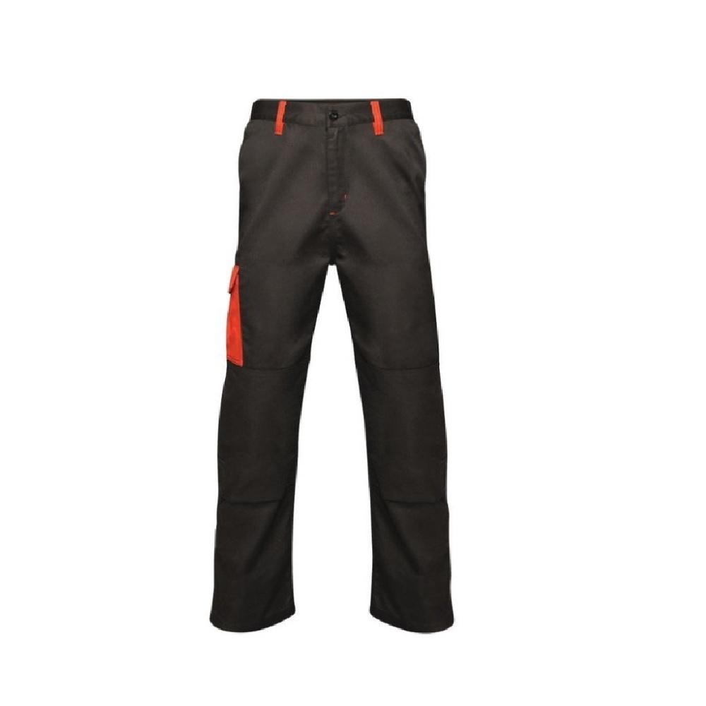 Regatta Mens Contrast Cargo Trousers (42R) (Black/Classic Red)